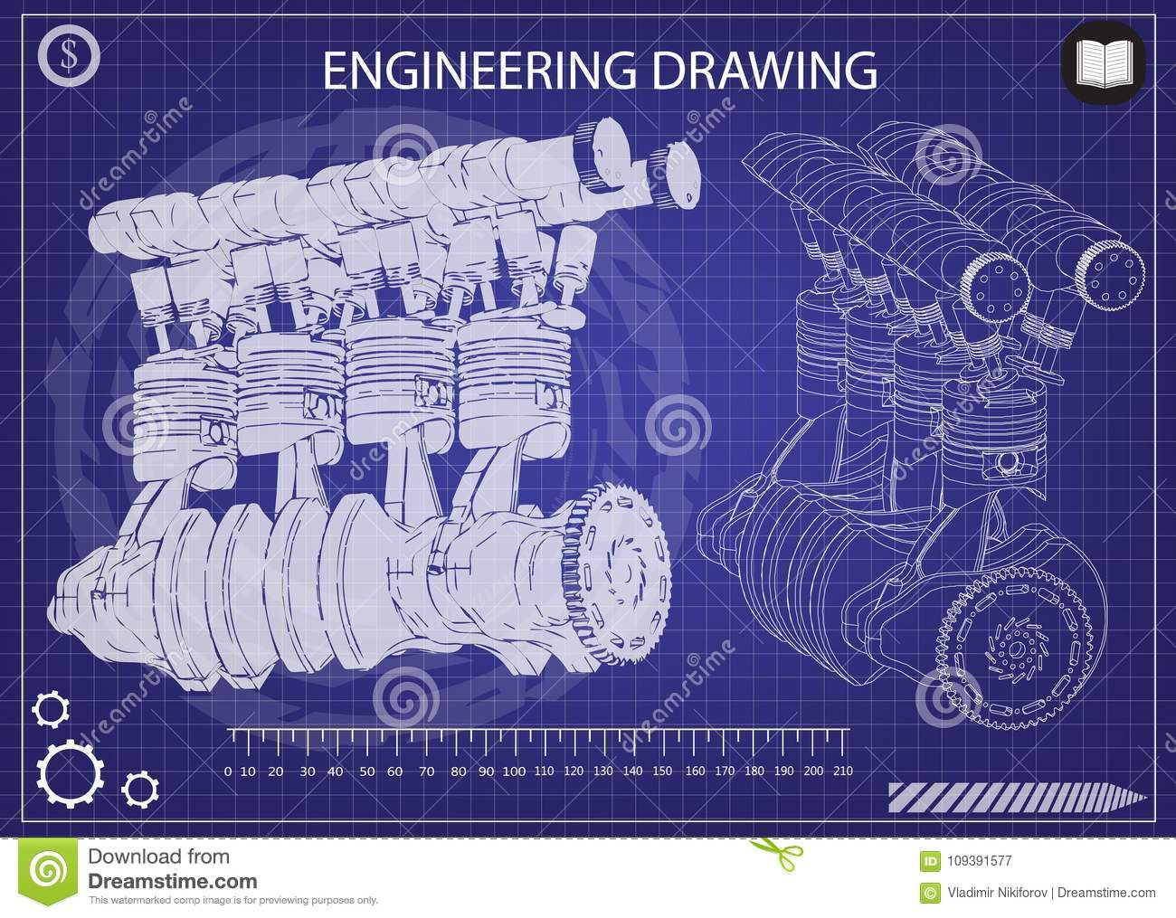 The car engine