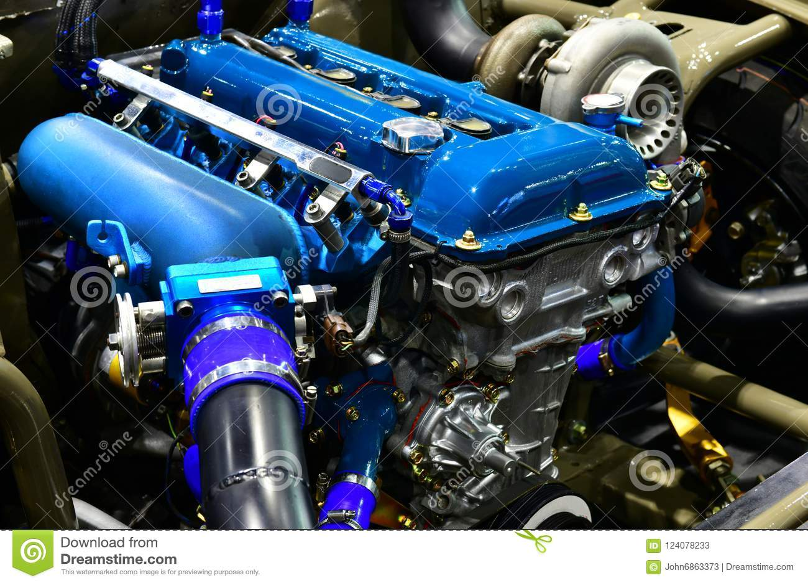 Car Engine  Modification Of The Engine Stock Image - Image