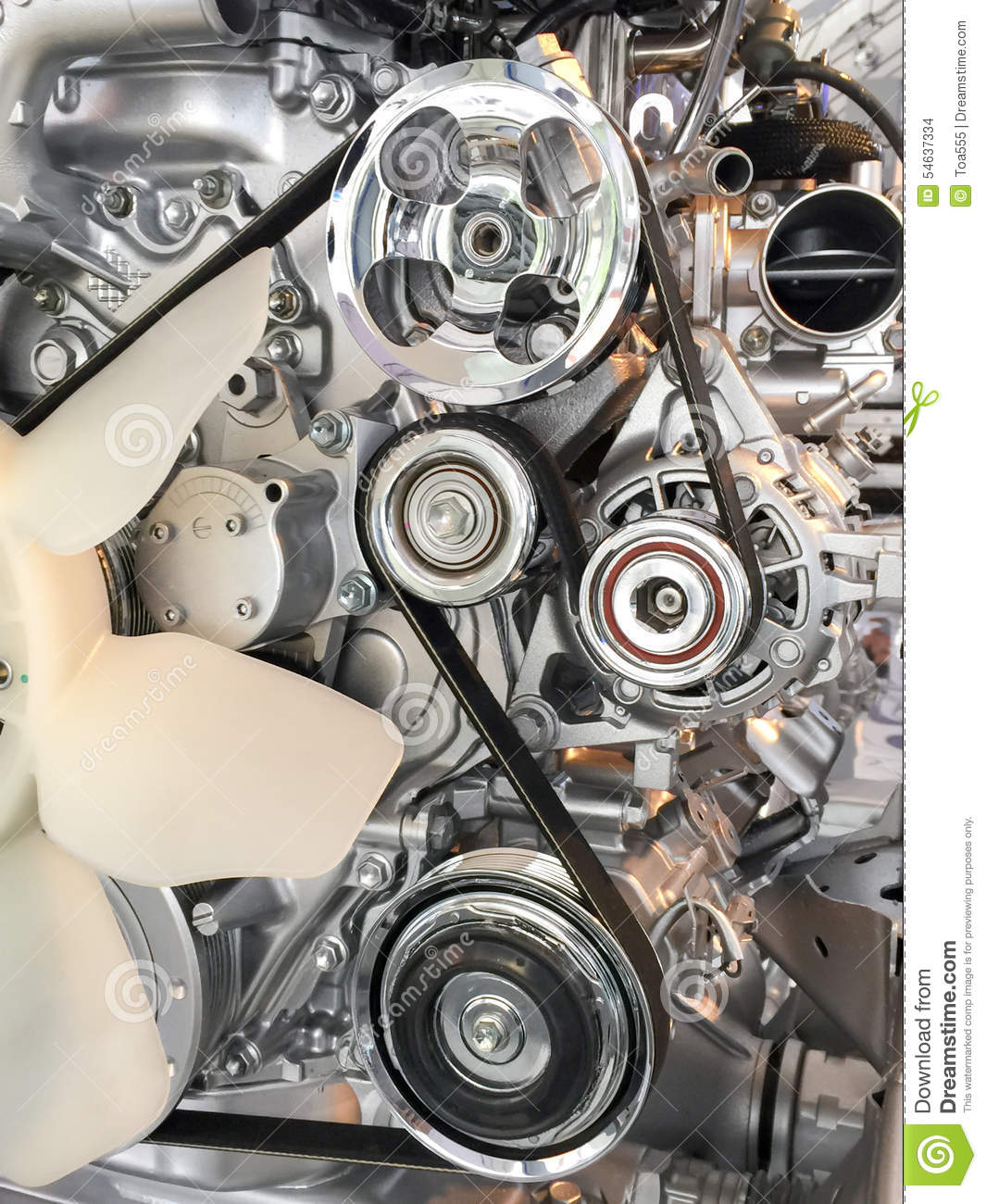 Car Engine Pulley Drive Belt Stock Photo Image 54637334
