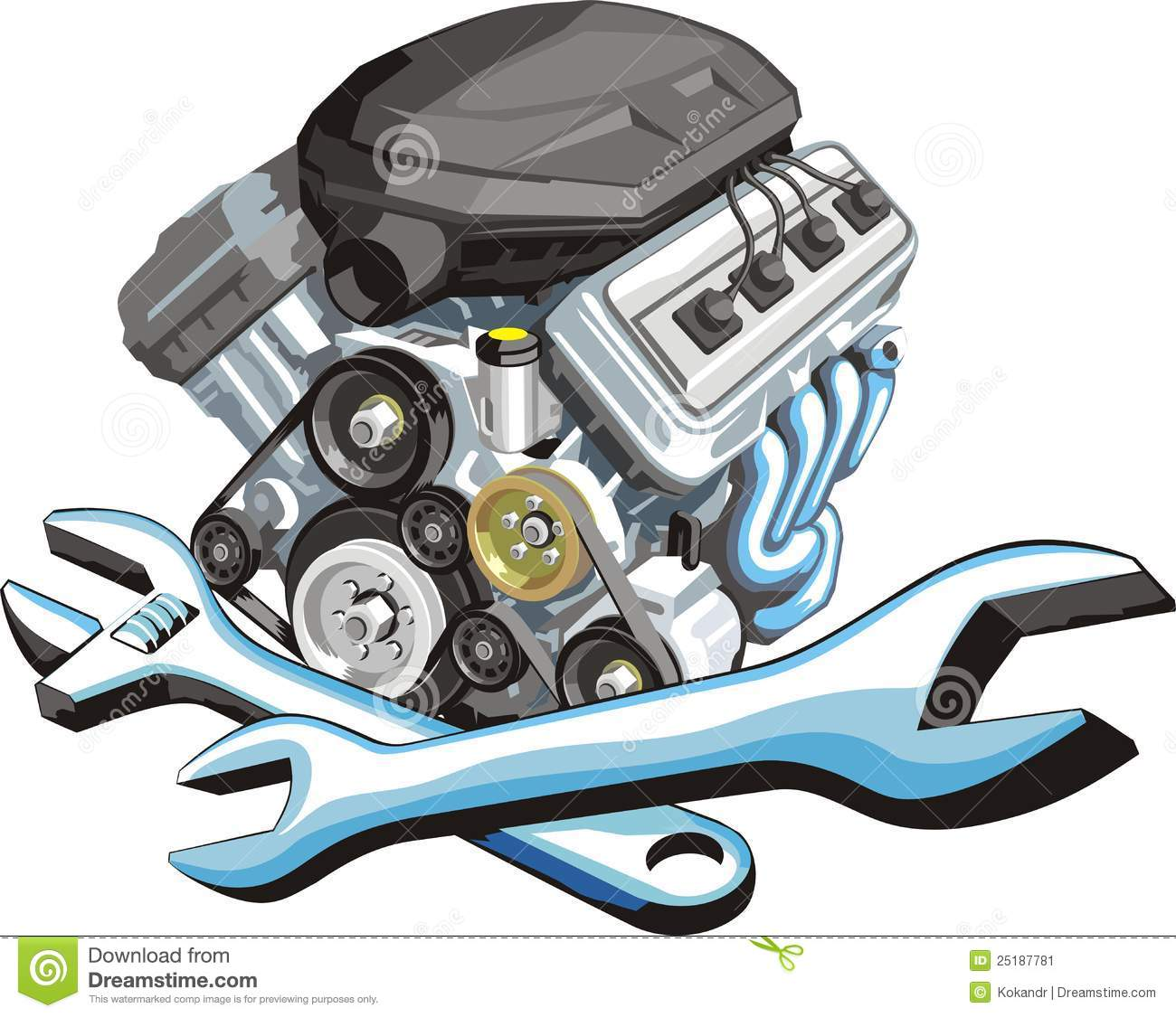 Car engine repair stock vector image of auto remove Auto motor repair