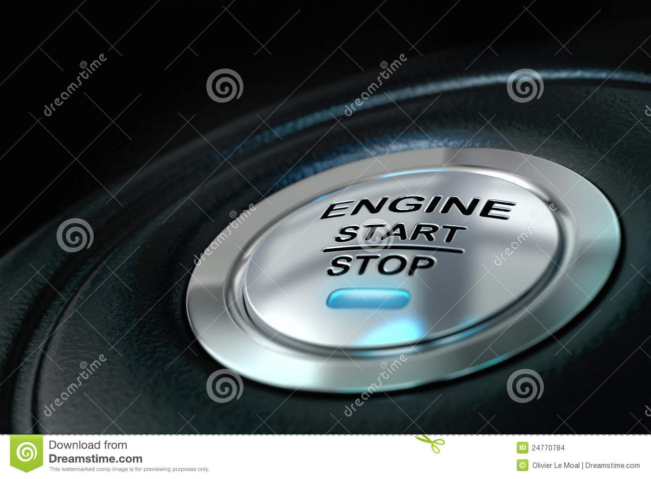 car engine start and stop button stock images image 24770784. Black Bedroom Furniture Sets. Home Design Ideas