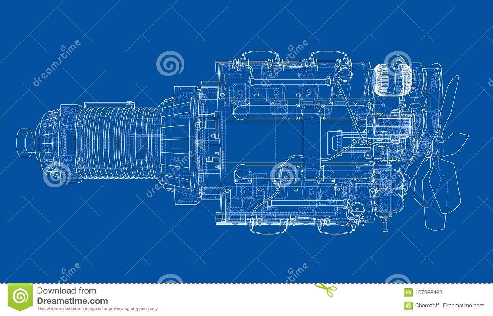 Car engine vector rendering of 3d stock vector illustration of download car engine vector rendering of 3d stock vector illustration of blueprint background malvernweather Gallery