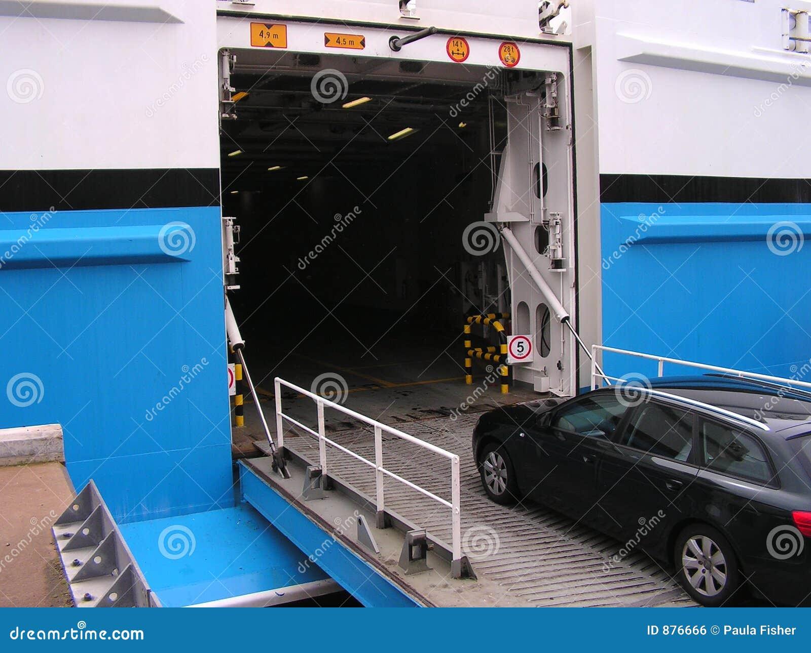 Car Entering Ferry.
