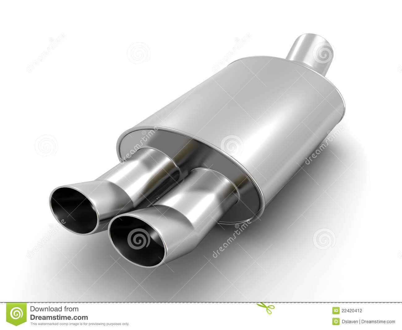 Exhaust stock illustrations 5607 exhaust stock illustrations car exhaust pipe sporty car twin exhaust pipe on a white background 3d render malvernweather Gallery