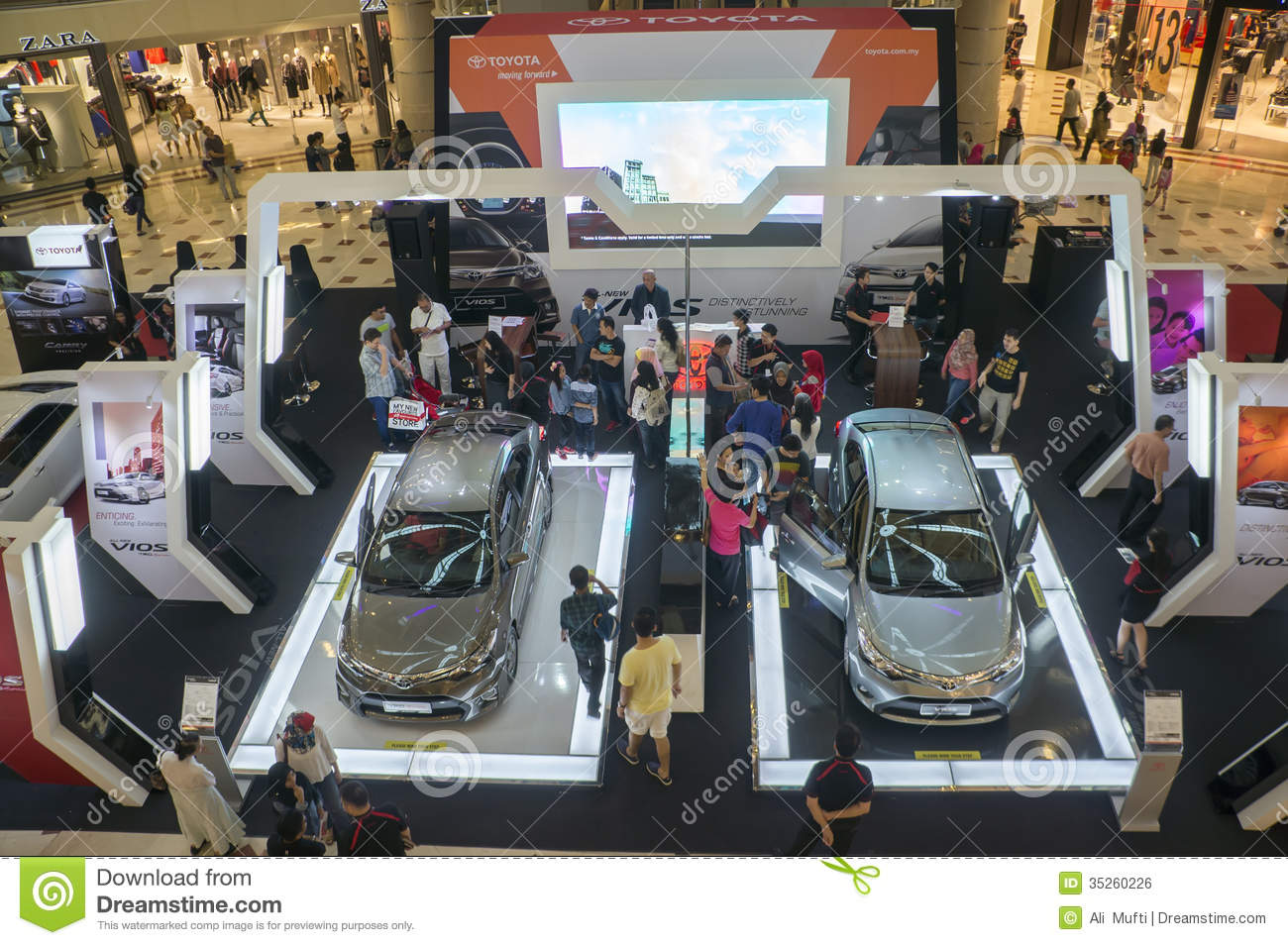 Car Exhibiton Editorial Photo Image Of Mall Asian