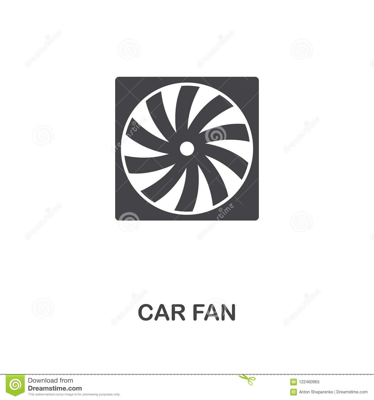 Car Fan Creative Icon Simple Element Illustration Car Fan Concept Symbol Design From Car Parts Collection Can Be Used For Web Stock Illustration Illustration Of Design Airflow 122460965