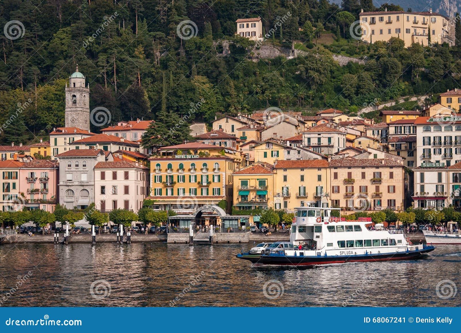 Car Ferry Bellagio Lake Como Italy Editorial Photo Image 68067241