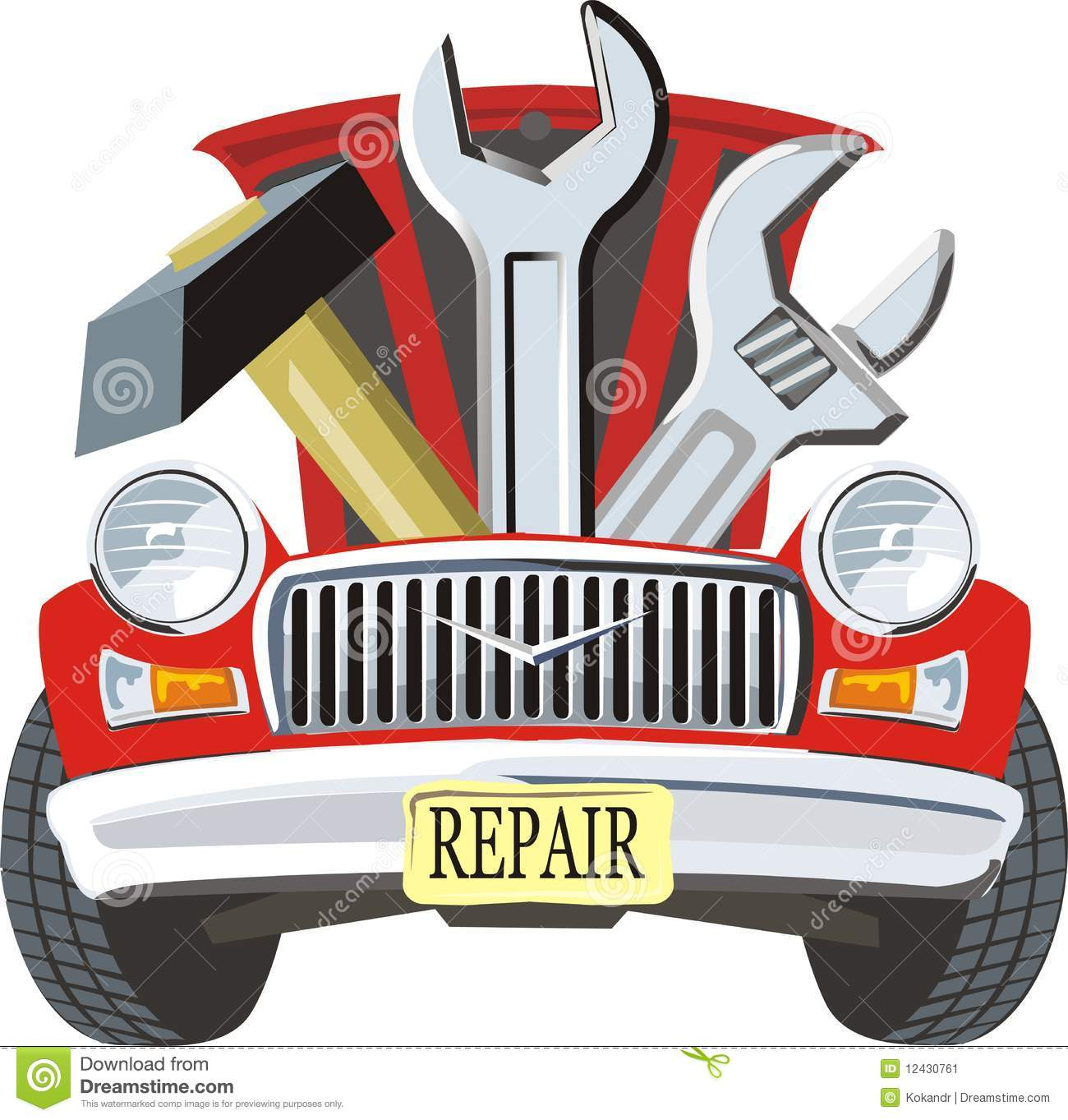 Car Fixed Stock Image - Image: 12430761