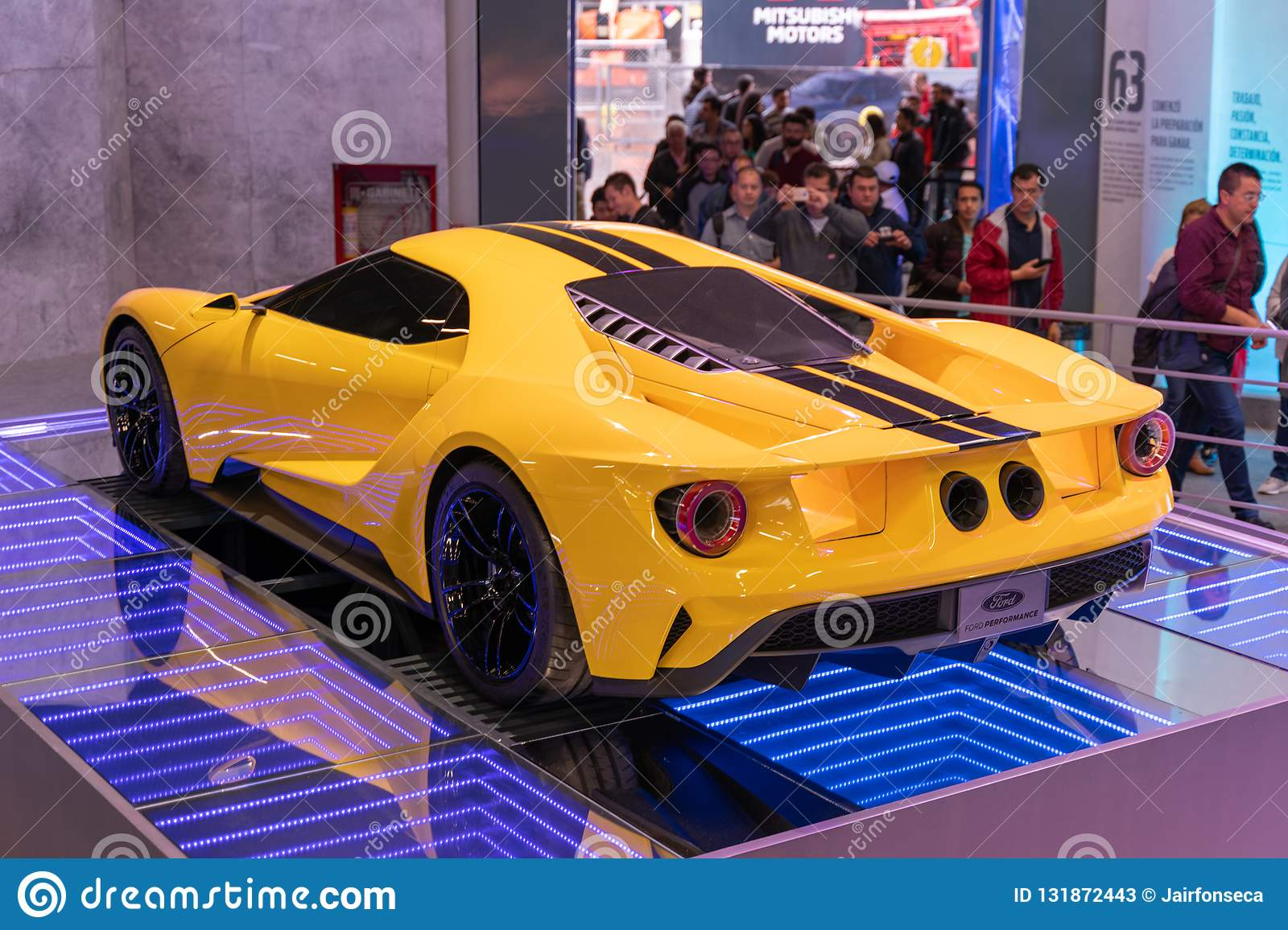 Car Ford Gt Yellow Color