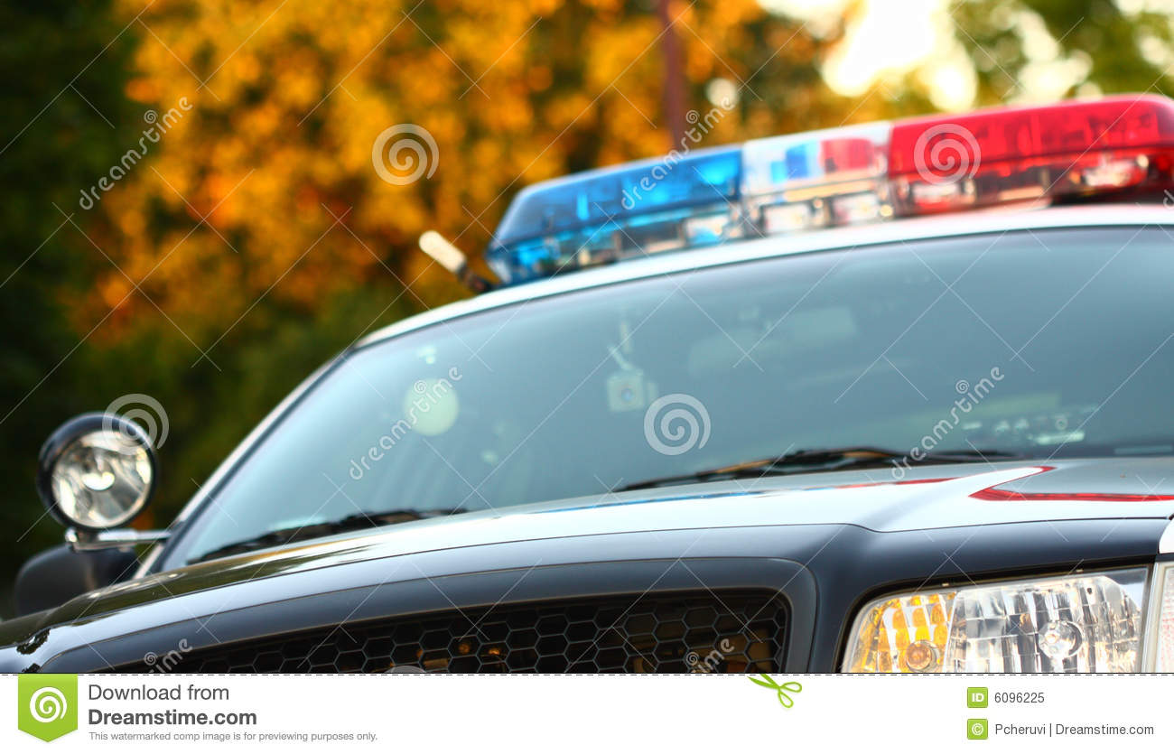Car front police view