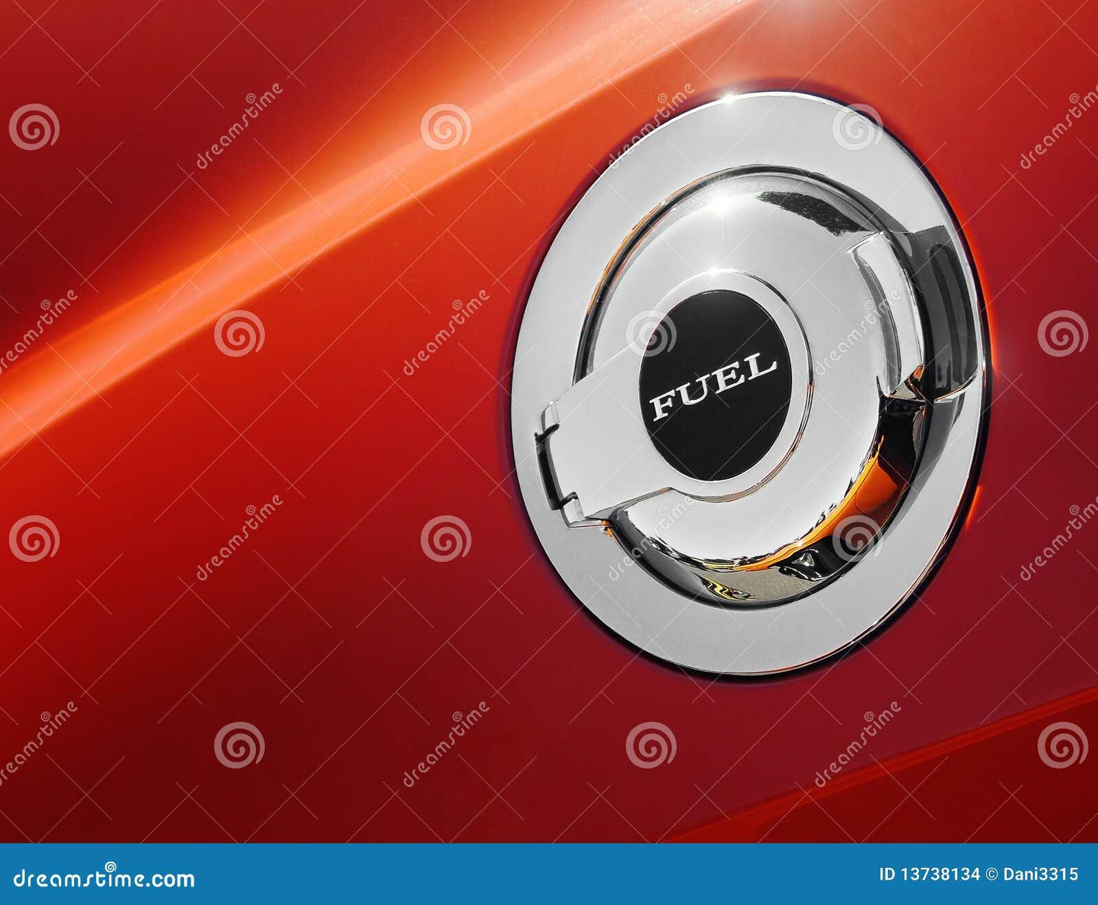 Automotive Gas Cap : Car fuel cap stock photo image of automotive chrome