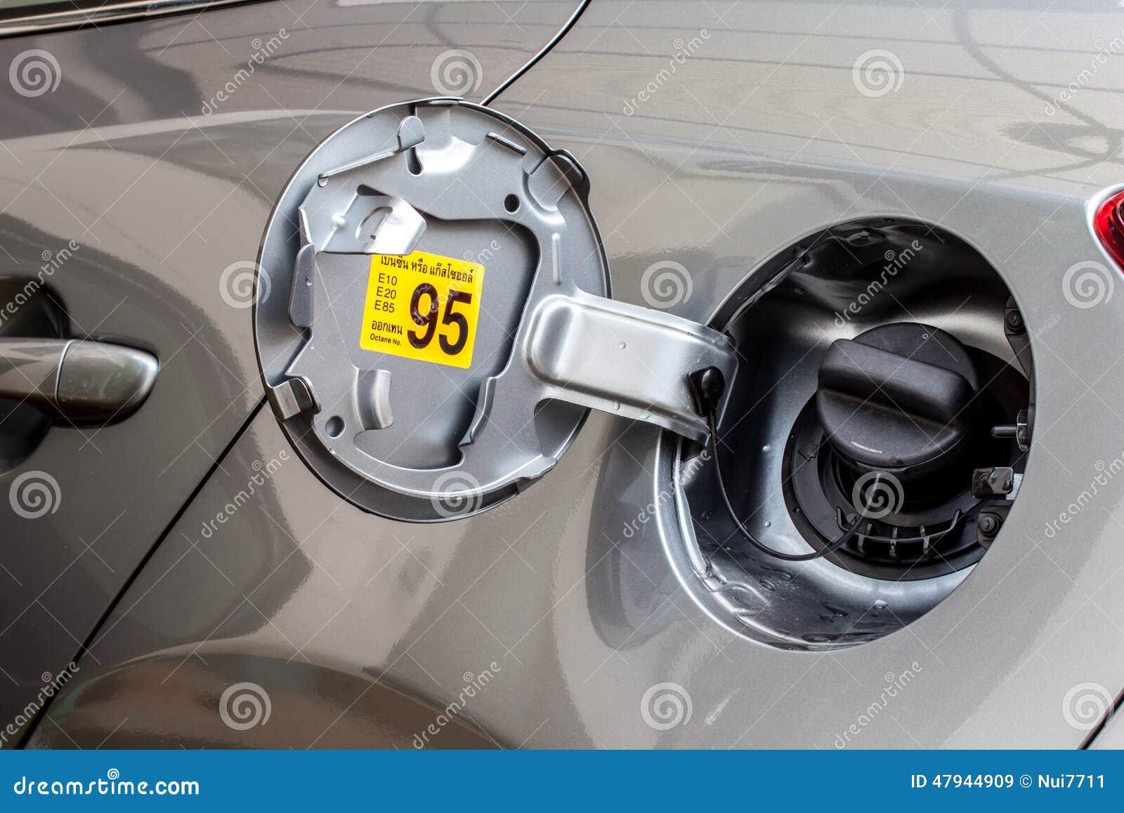 Automotive Gas Cap : Car fuel tank cap stock photo image