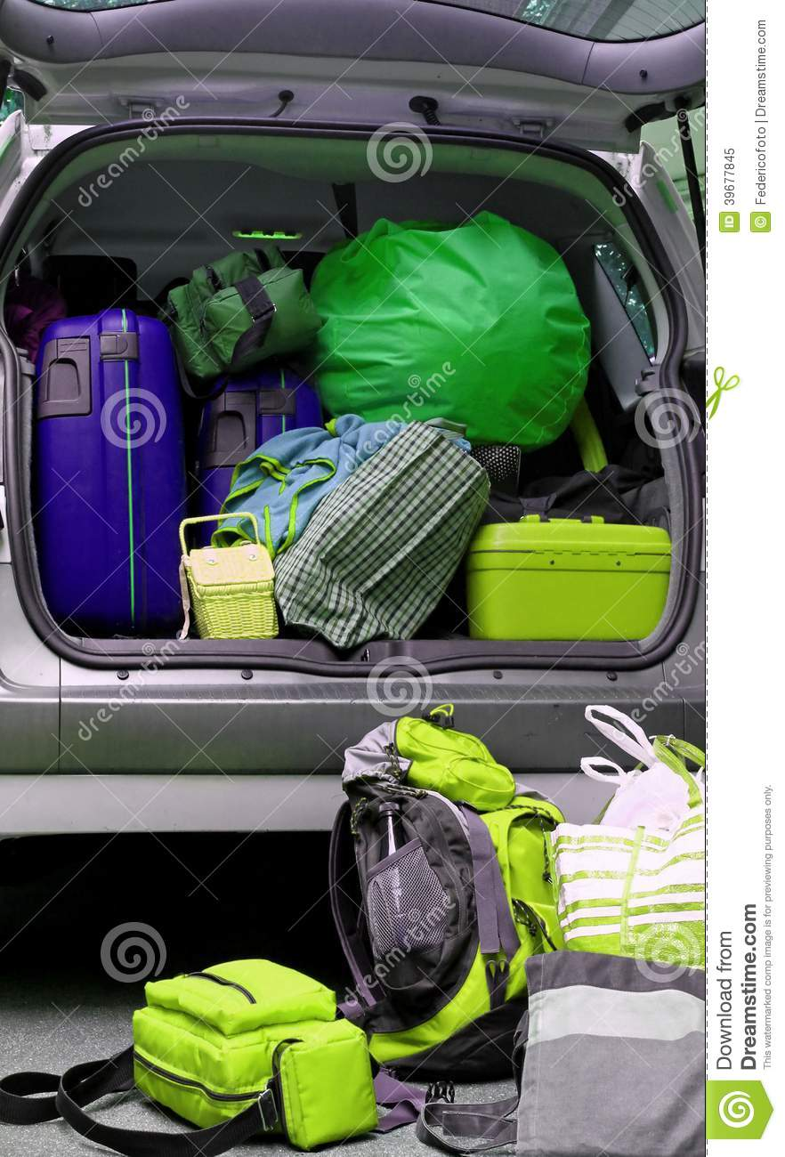 Car Full Of Luggage Bags