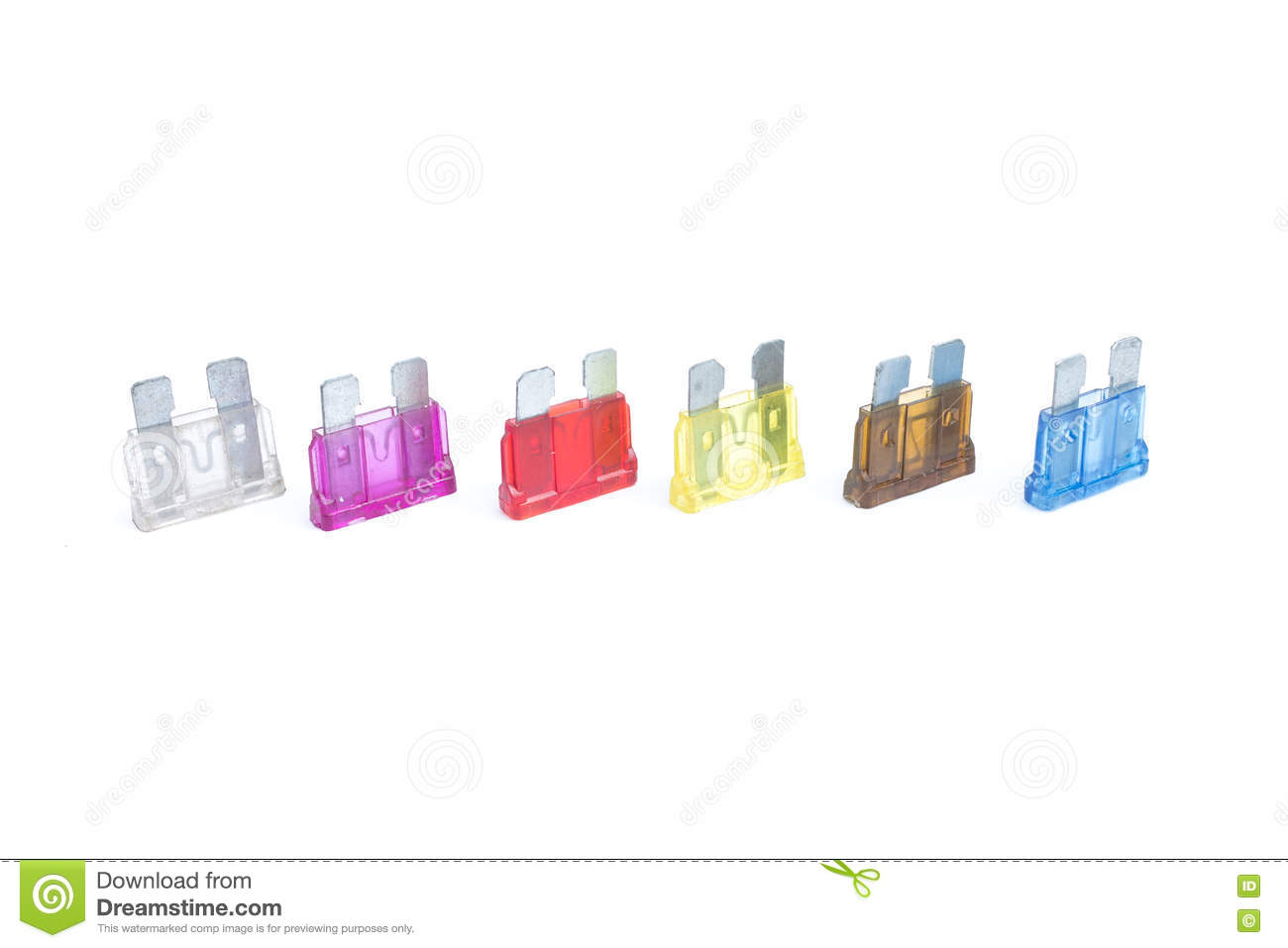 Car Fuse Pile Of Colorful Electrical Automotive Fuses Stock Photo Home Wiring And Circuit Breakers Diagram