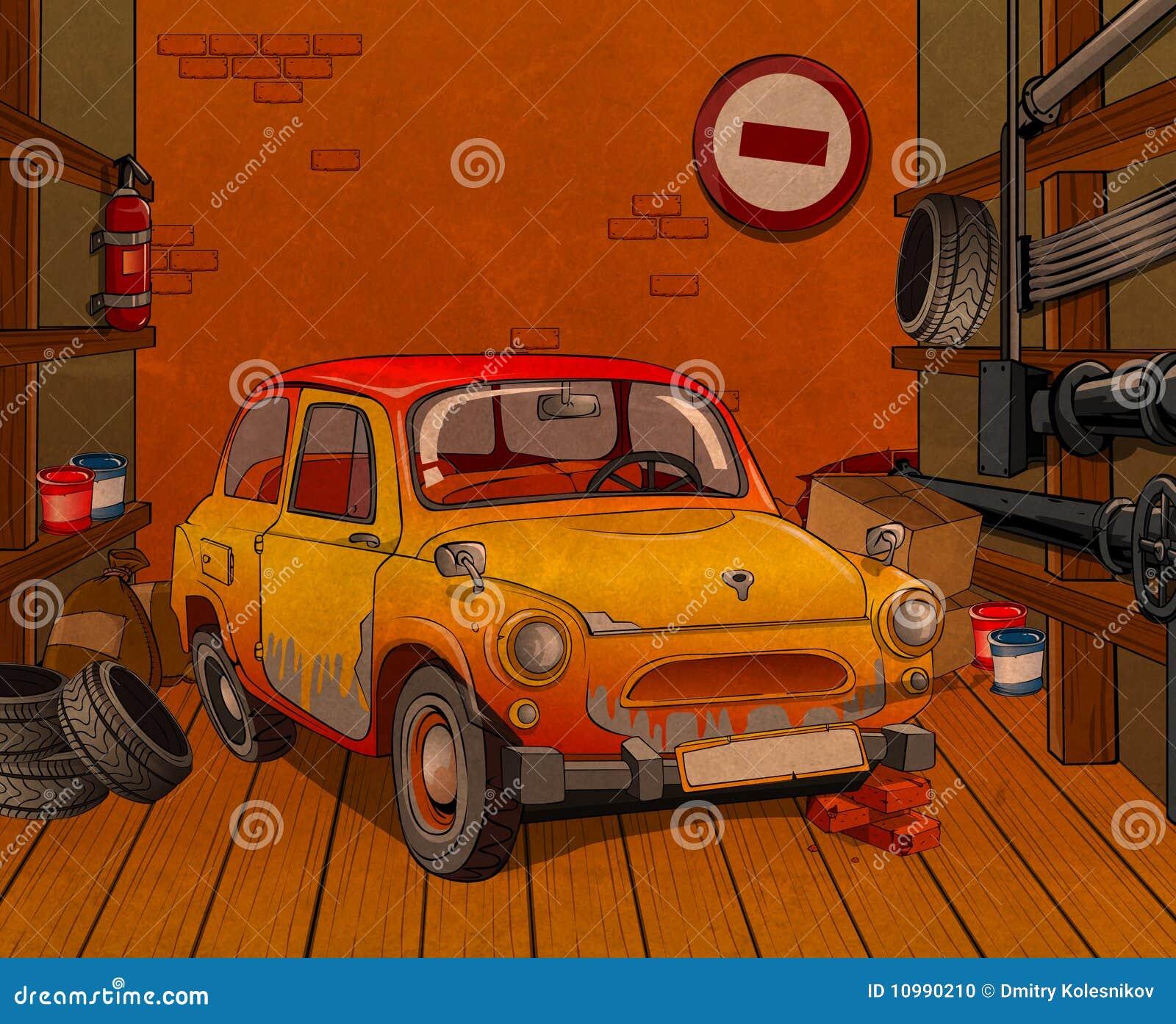 Car in garage stock photo image 10990210 for Garage mercedes gap