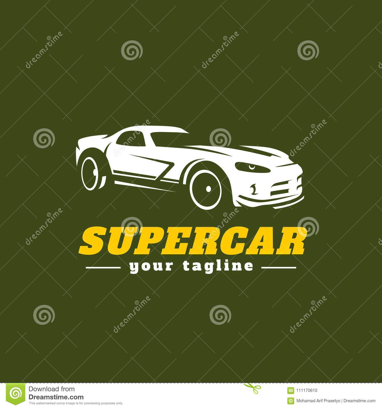 Car Garage Logo Template Vector Illustration Stock Vector Illustration Of Simple Power 111170610