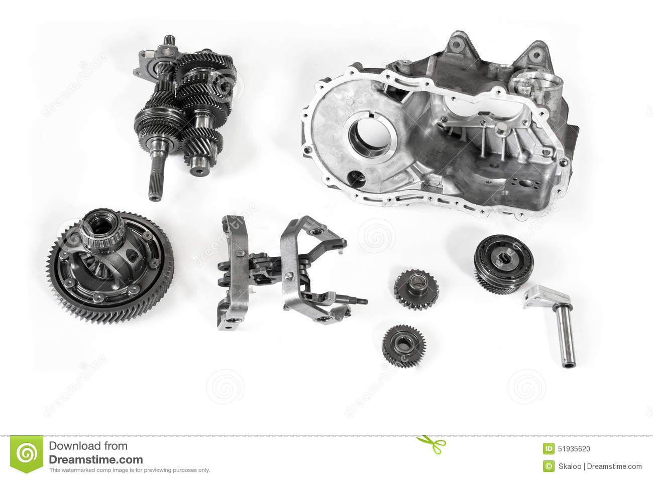Car Gearbox Parts Stock Photo Image Of Ratios Metal 51935620