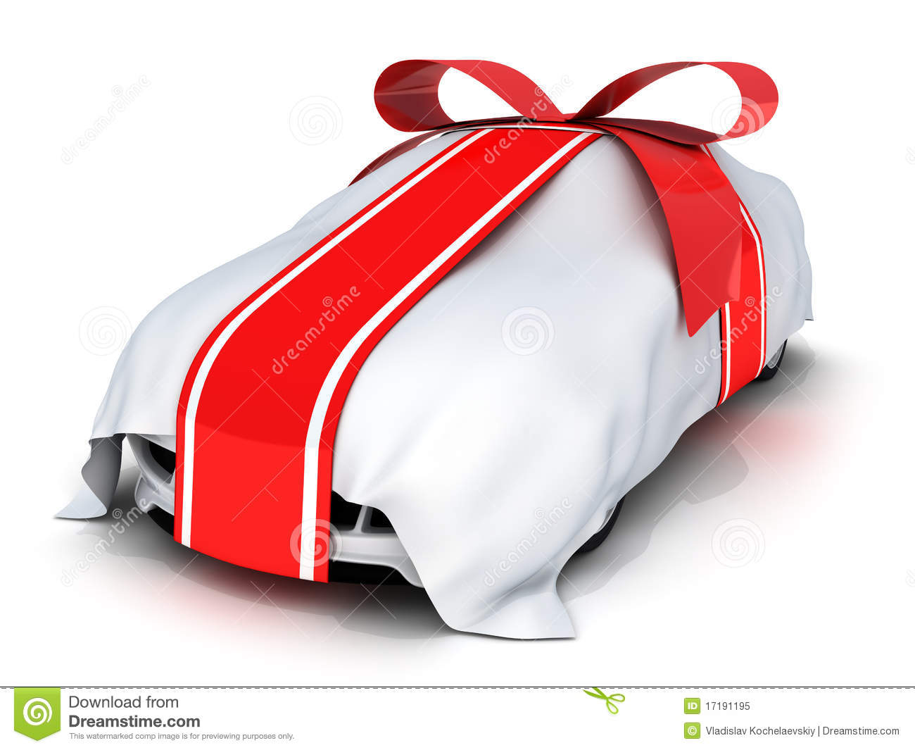 Expensive Car For Sale Or Gift Royalty Free Stock Image: Car Gift Stock Illustration. Image Of Market, Present