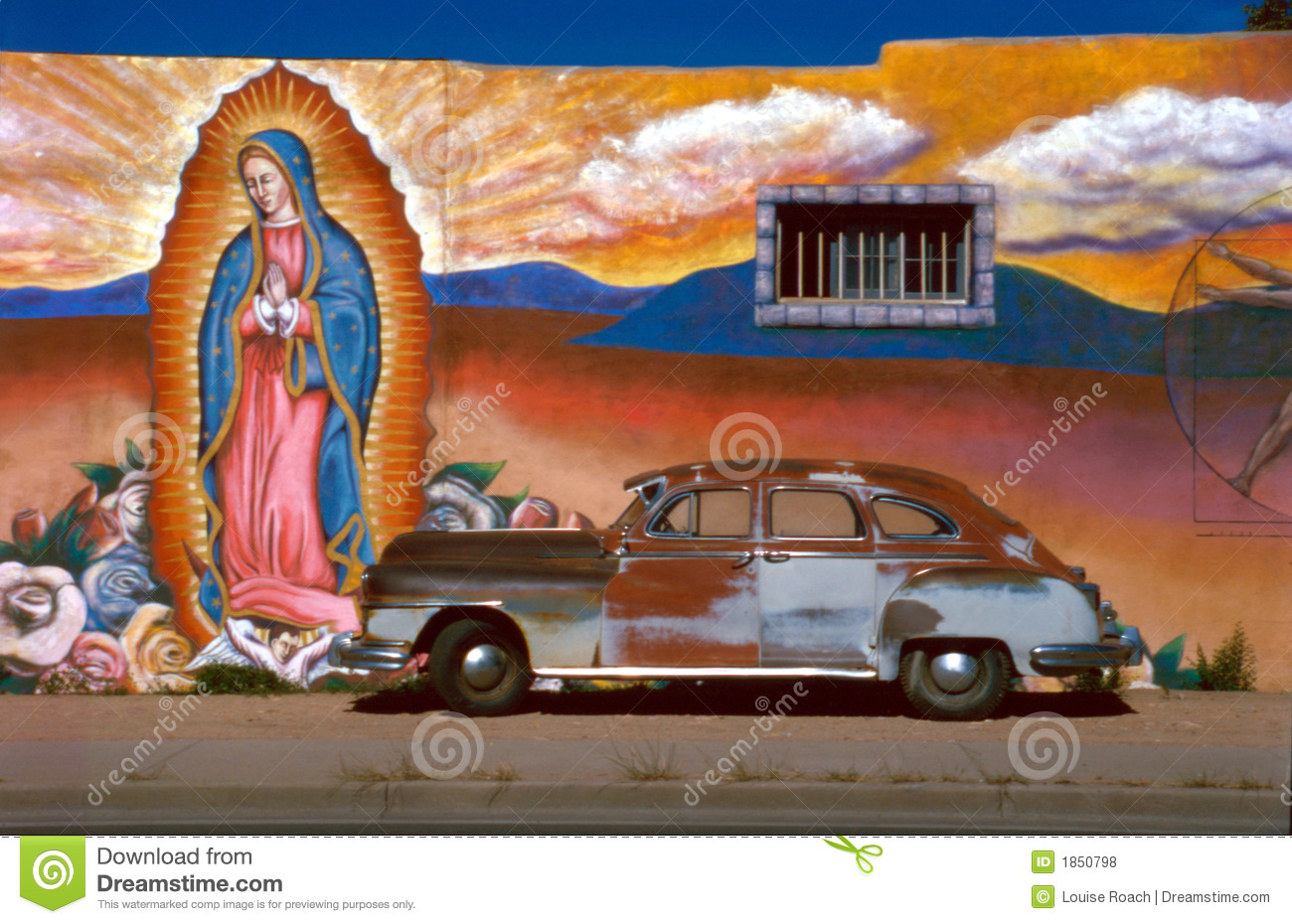Car with Guadalupe