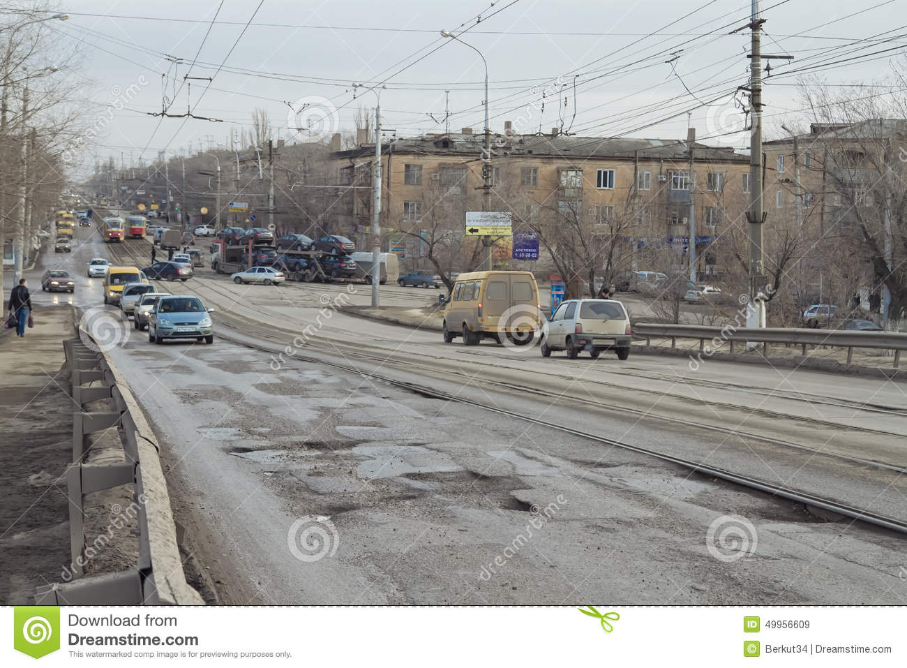 Reconstruction of Volgograd roads and clearing of roadside illegal buildings 85
