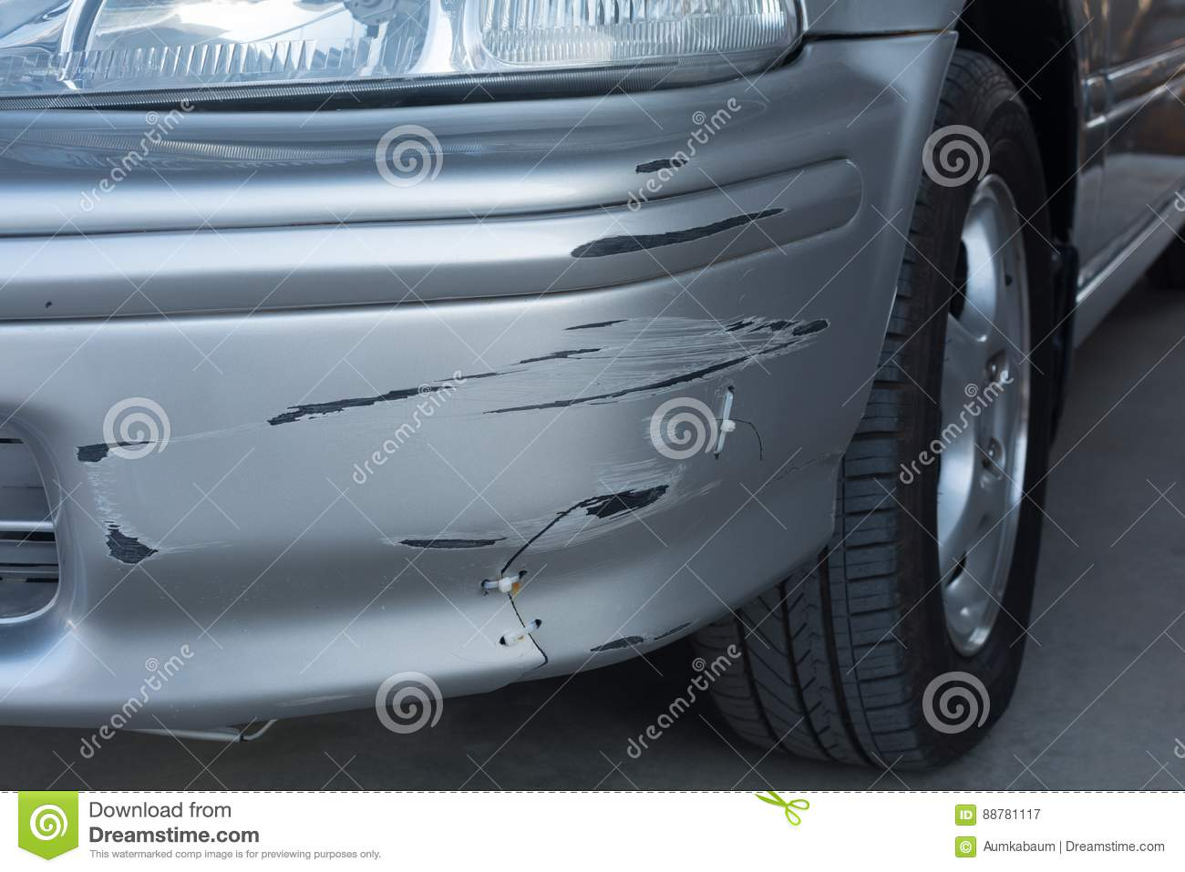 Car Have A Damage And The Owner Repair By Him Self Stock ...