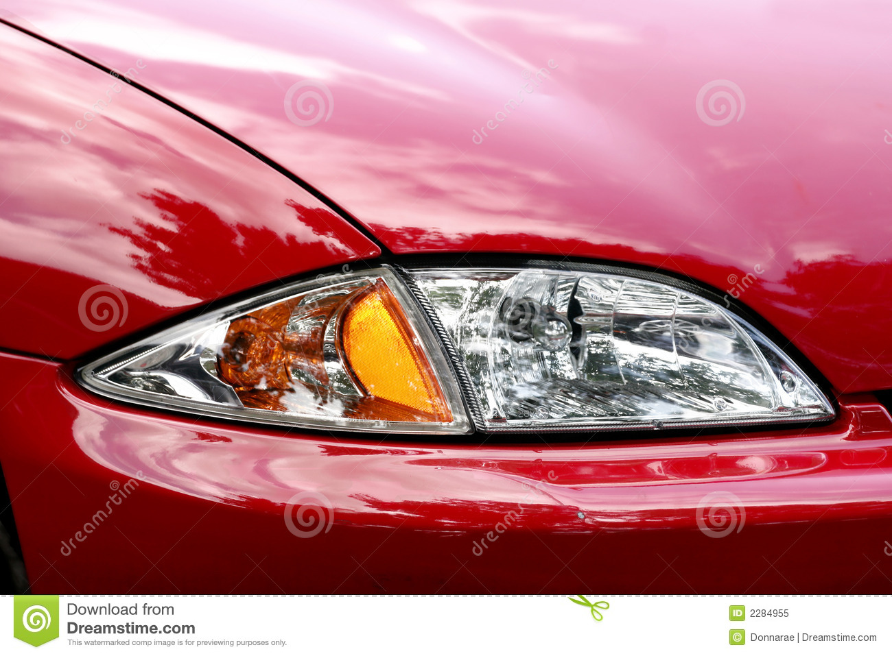 close up of a new car headlight royalty free stock photography 64151813. Black Bedroom Furniture Sets. Home Design Ideas