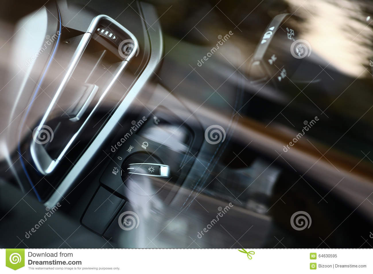 Car Headlight Switch Stock Image Of Light Plastic 64630595 Download