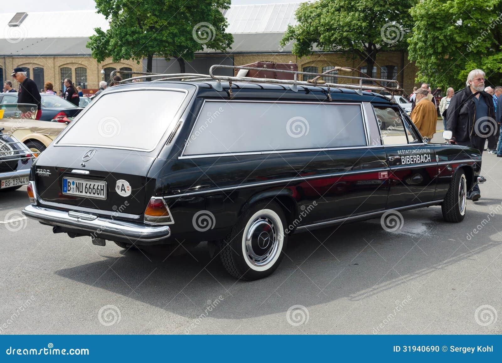 car hearse mercedes benz 220d w114 editorial image image 31940690. Black Bedroom Furniture Sets. Home Design Ideas