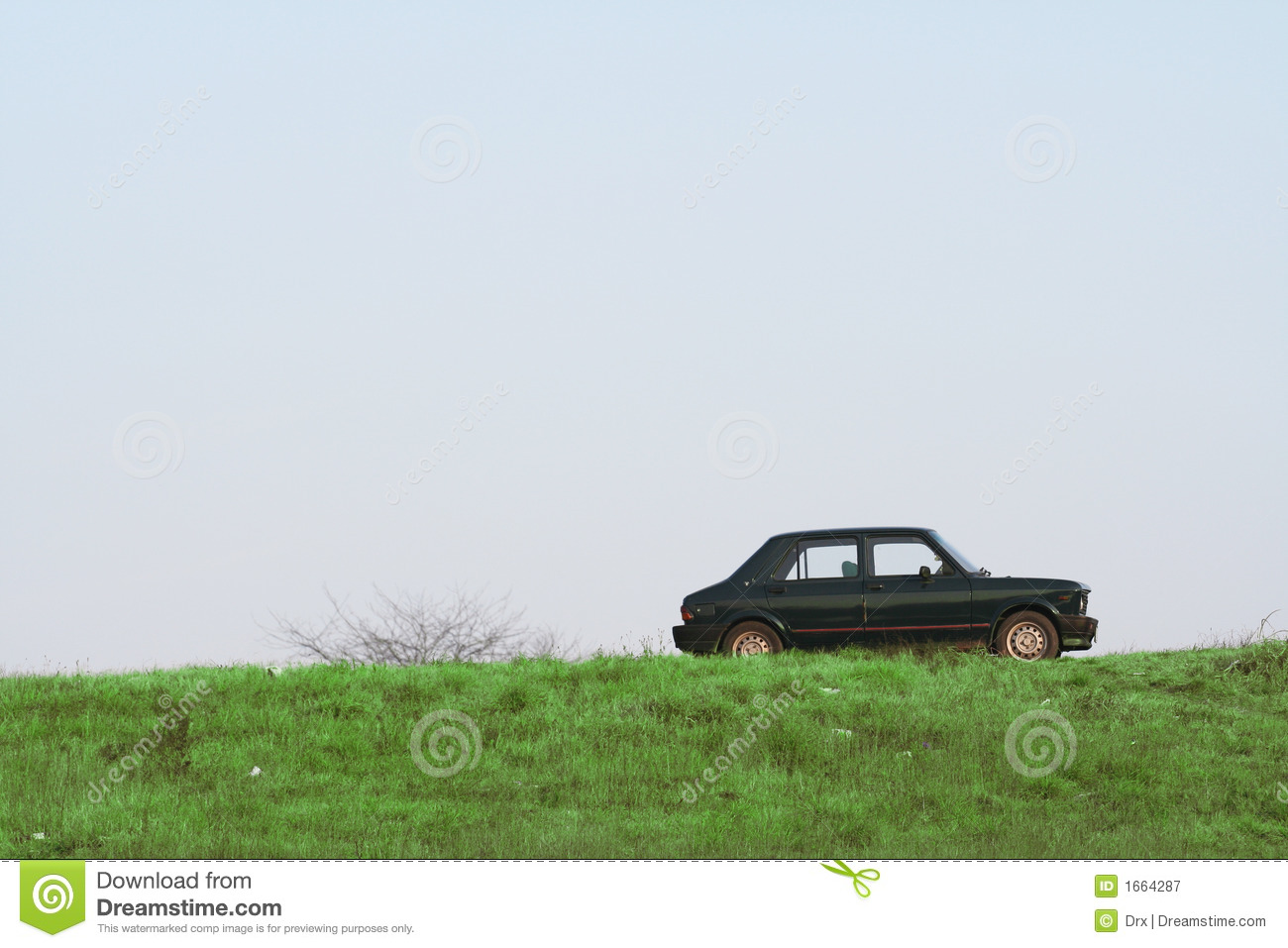 Car On Hill Royalty Free Stock Photography Image 1664287