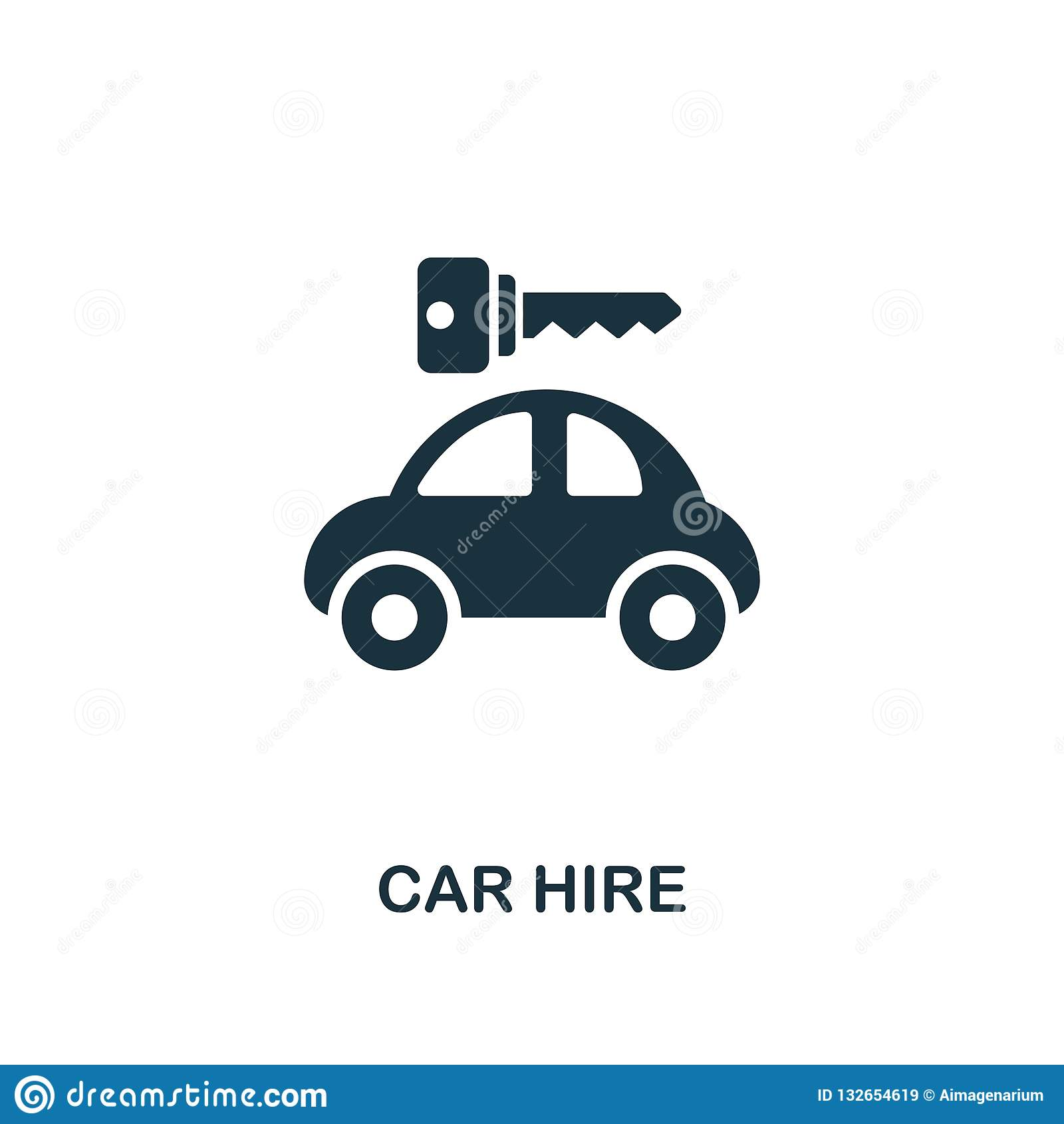 Car Hire Icon Premium Style Design From Public Transport Icon