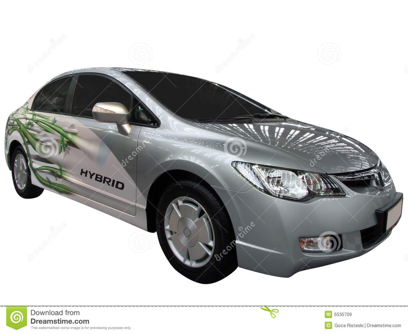 Car With Hybrid Engine Royalty Free Stock Images Image