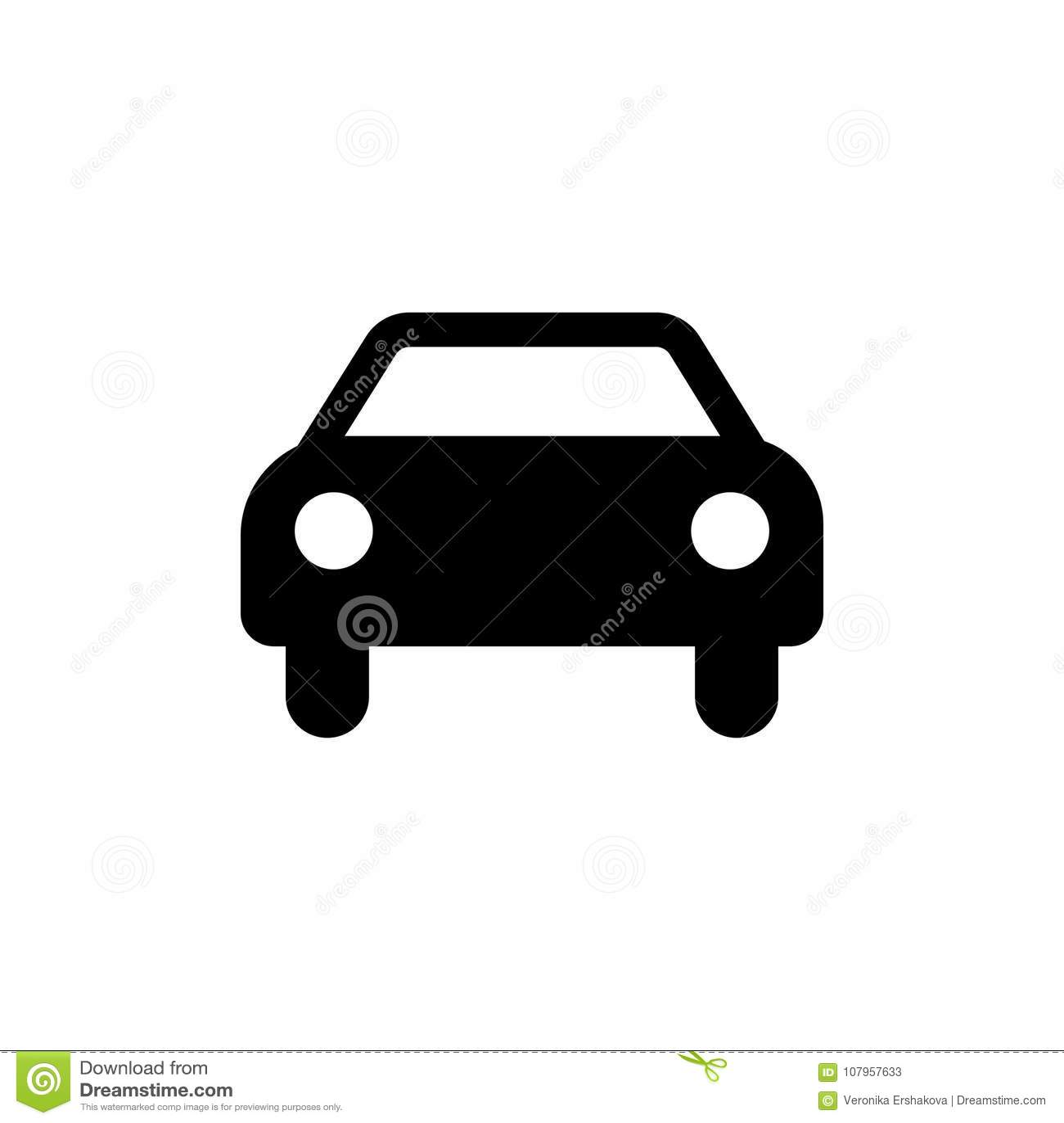 Car Icon. Black Car Sign. Transportation Icon Stock Vector