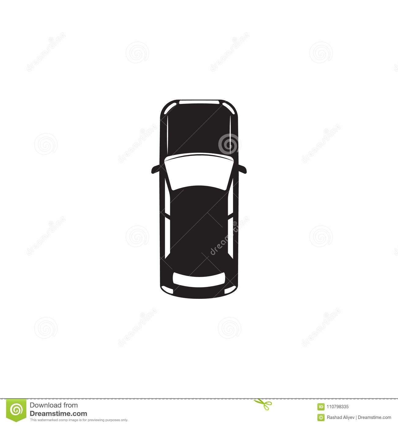 Car Icon Element Of Transport View From Above Icon One Of The