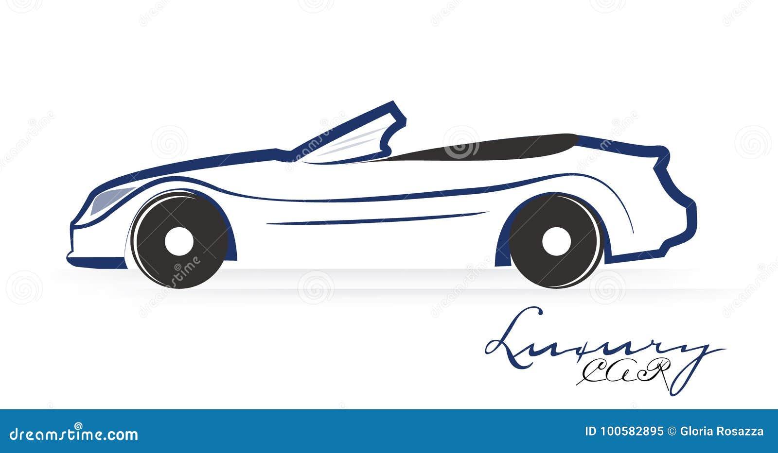 Car Icon Logo Stock Vector Illustration Of Drawing 100582895