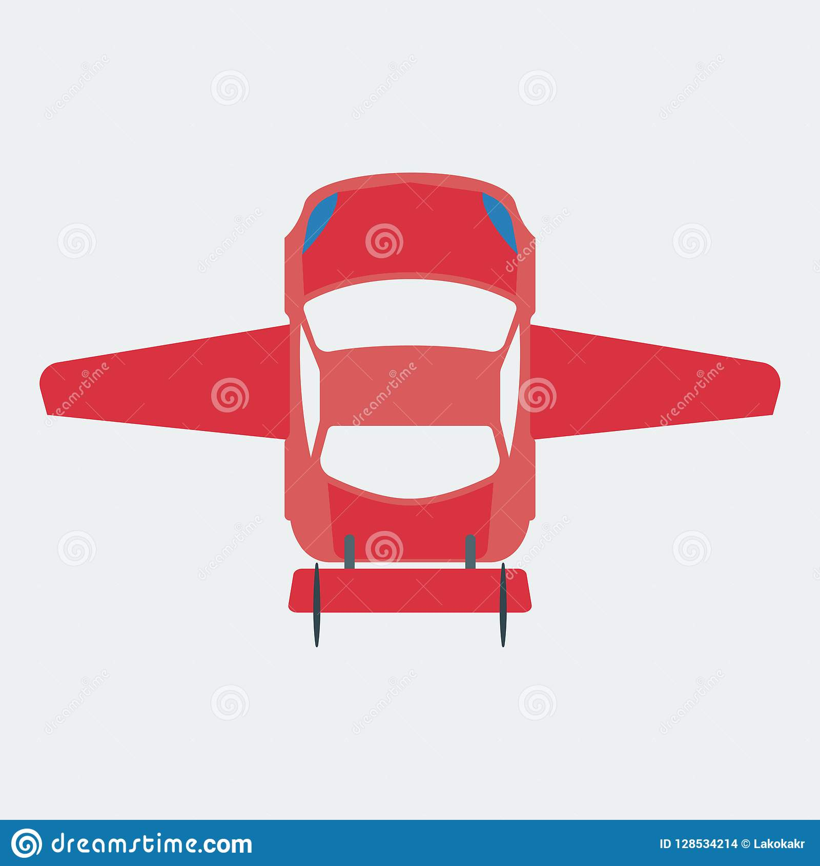 Car Icon Moving Through The Air  Flying Car  Stock