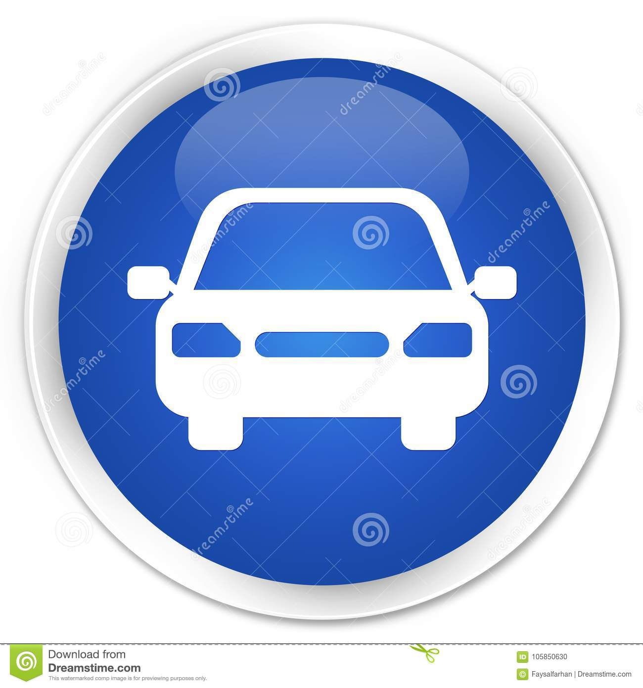 car icon premium blue round button stock illustration image 105850630. Black Bedroom Furniture Sets. Home Design Ideas