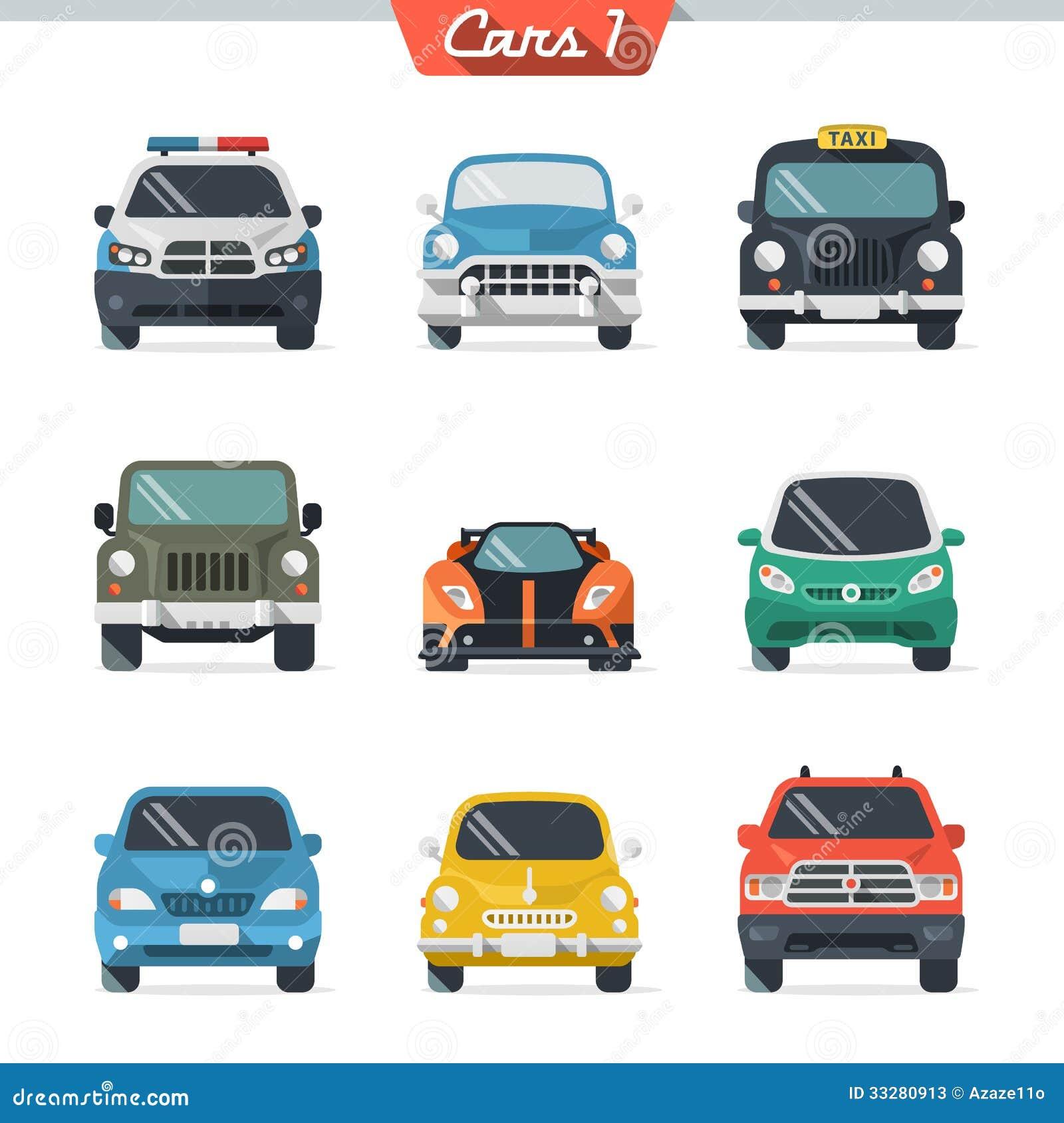 Car Icon Set 1 Stock Vector. Illustration Of Blue