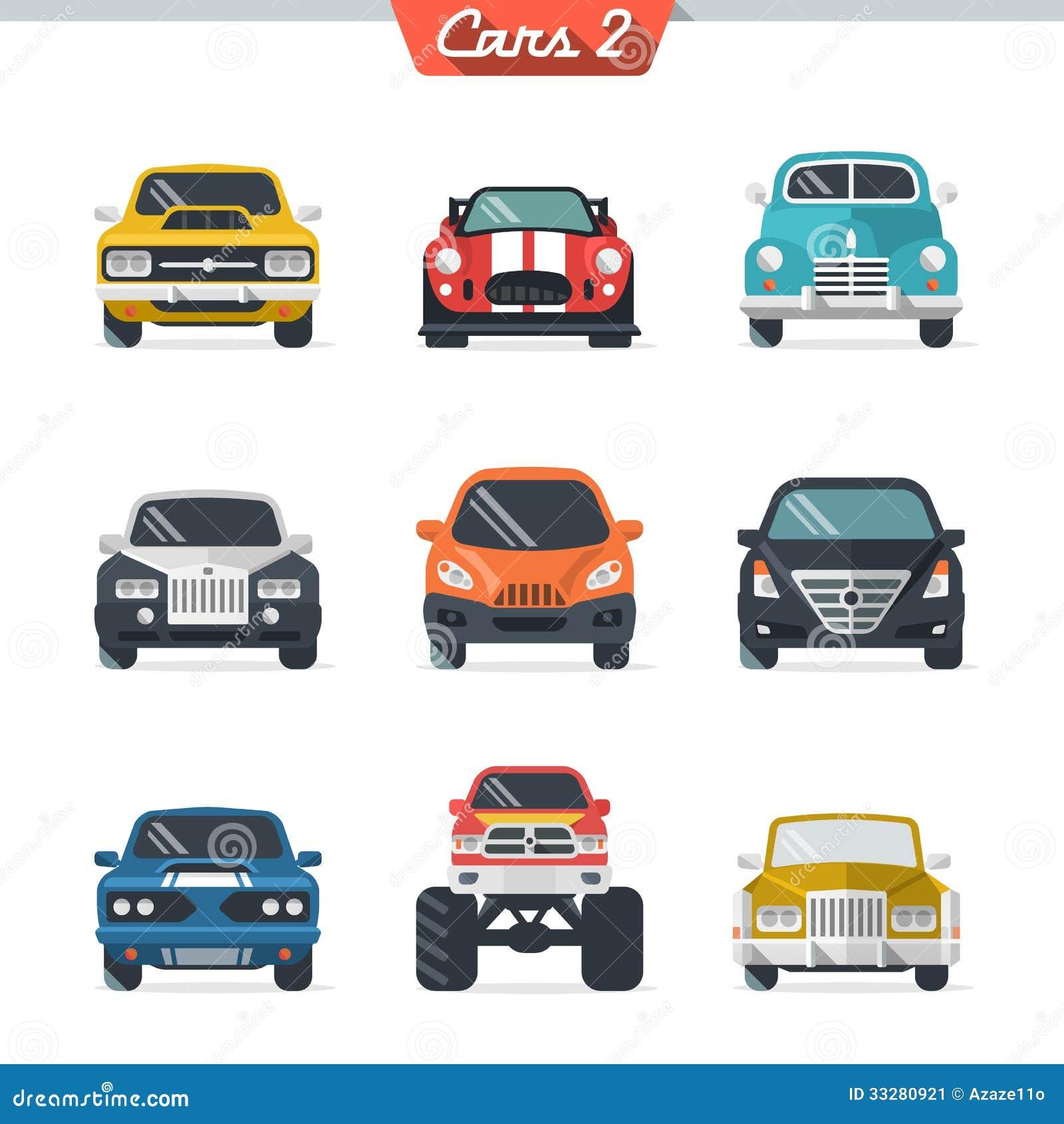 Car Icon Set 2 Stock Image