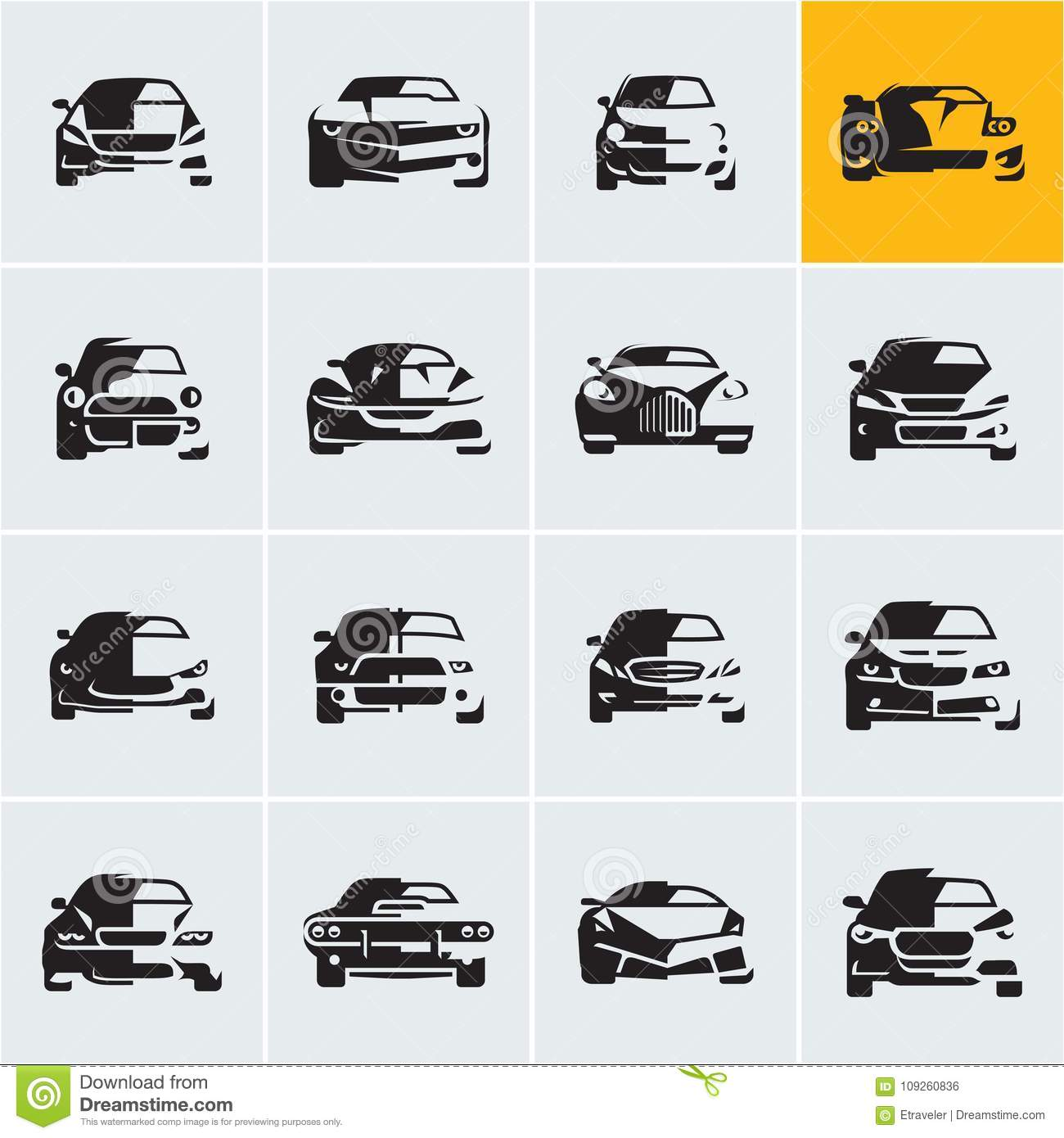 Car Icons Graphic Vector Cars Car Front View Car Logo Design