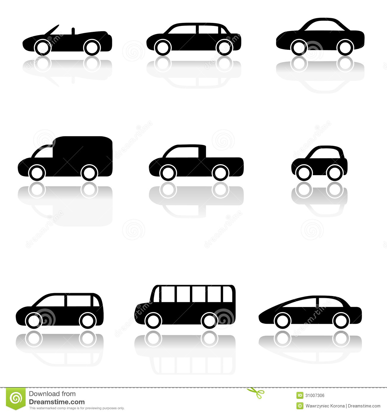 car icons set stock vector illustration of simple isolated 31007306. Black Bedroom Furniture Sets. Home Design Ideas