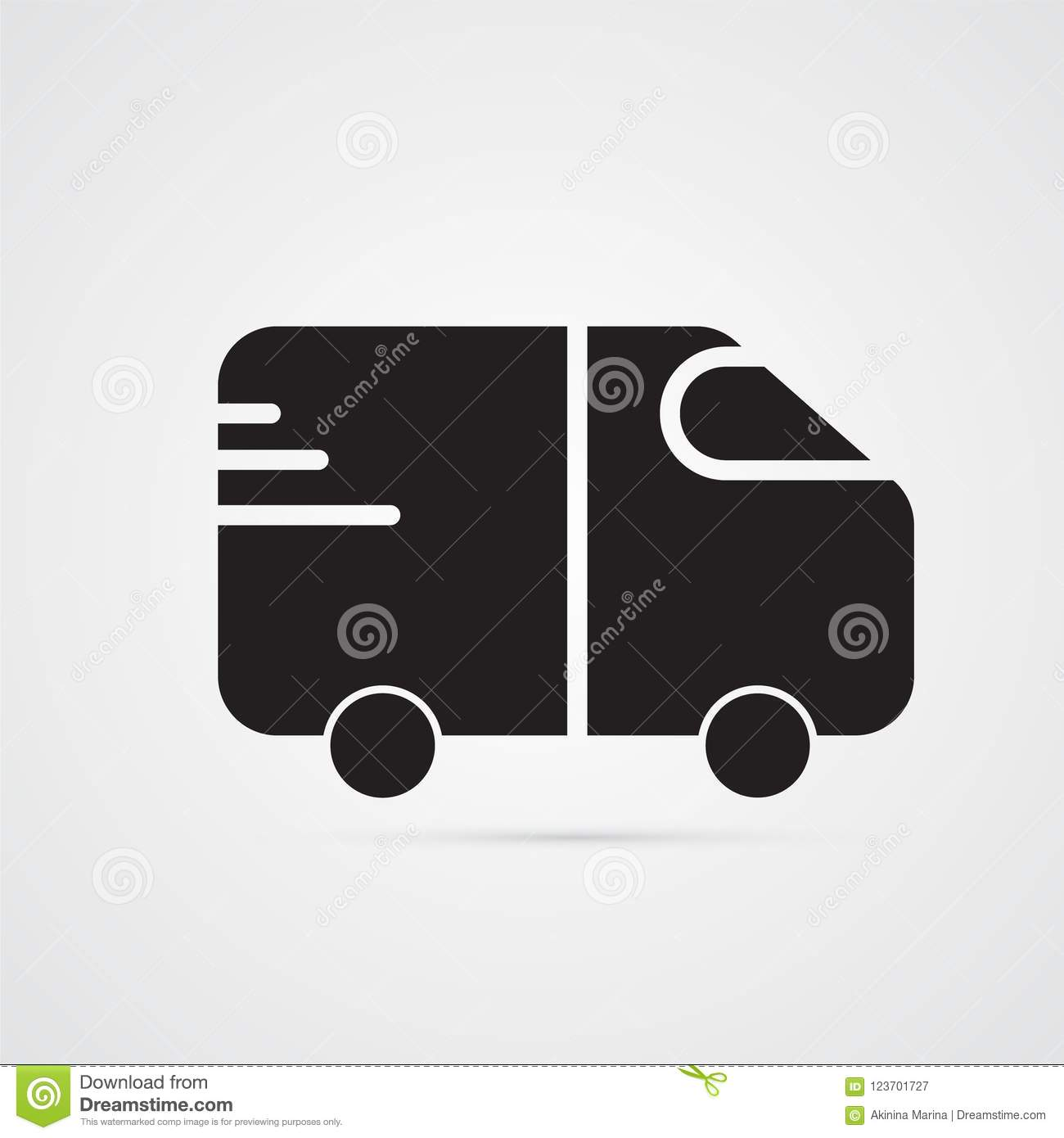Car For Illustration Of Transport And Truck Symbol Of Delivery