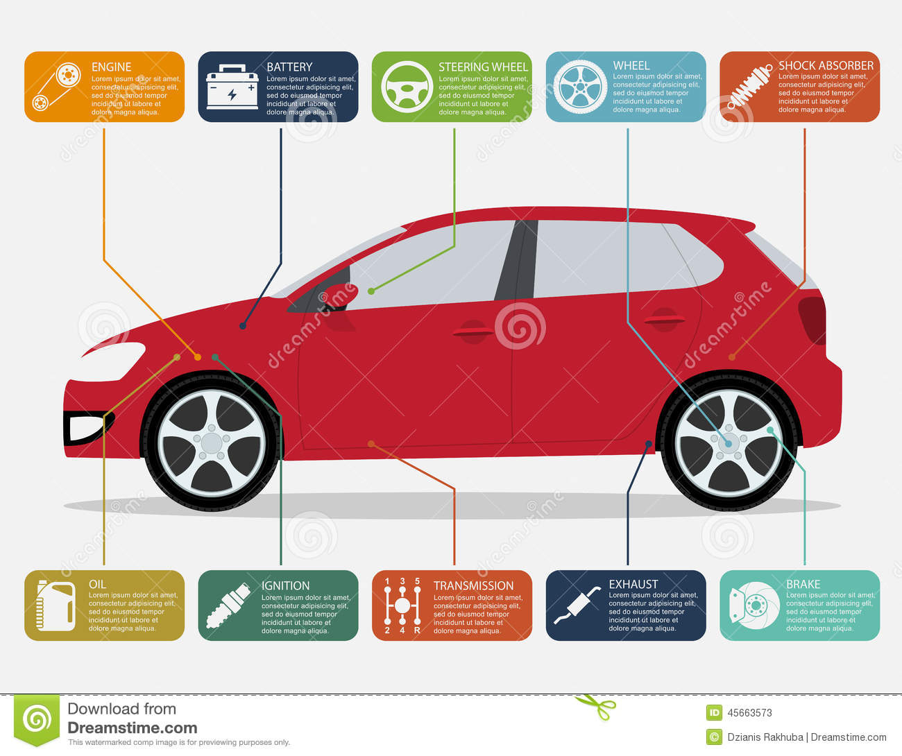 Car Infographic Stock Vector Image 45663573