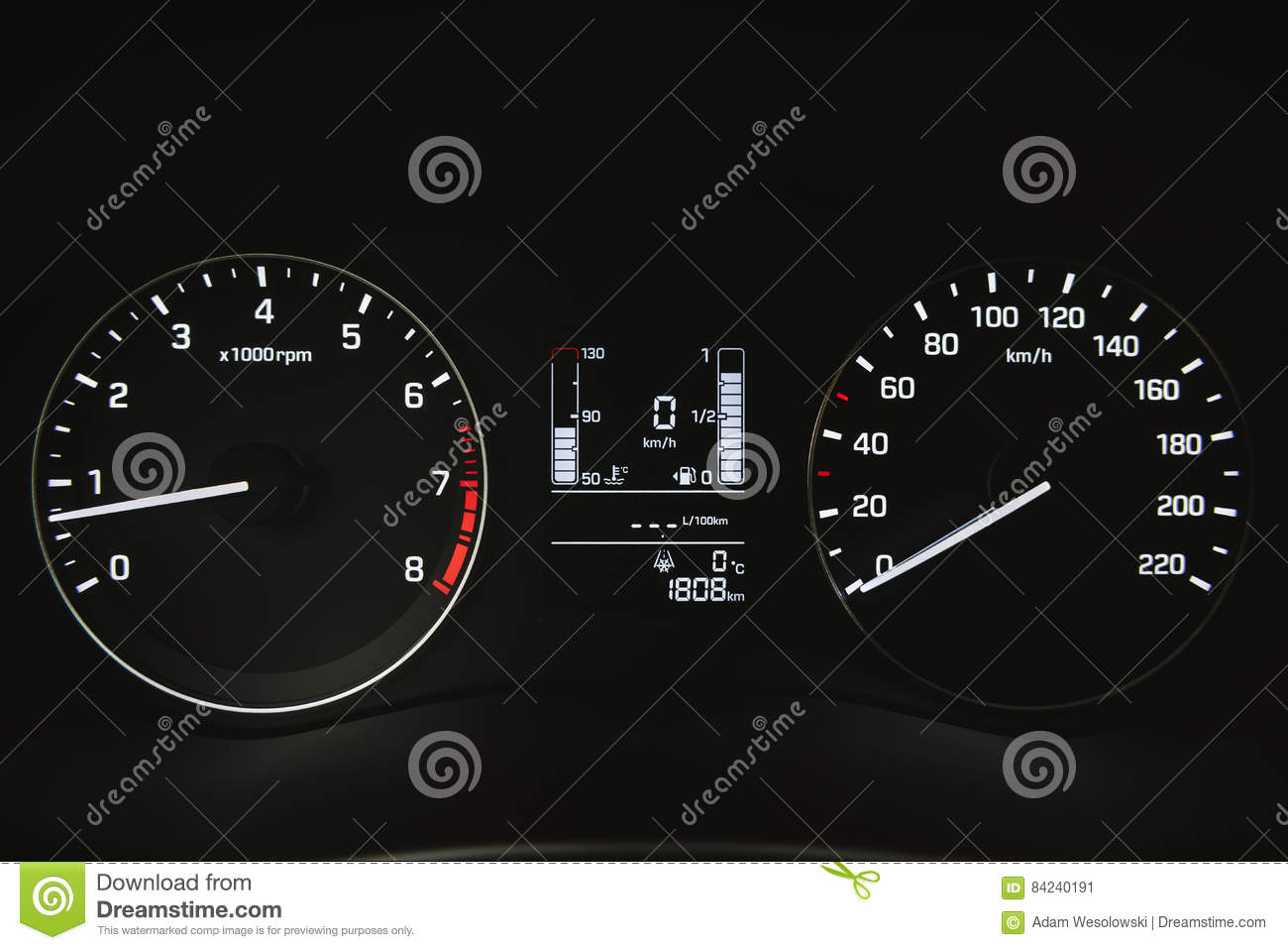Car Instrument Panel Dashboard Closeup Stock Image Image Of
