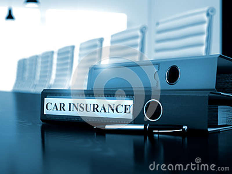 Car Insurance On Binder. Toned Image. 3D. Stock Photo ...