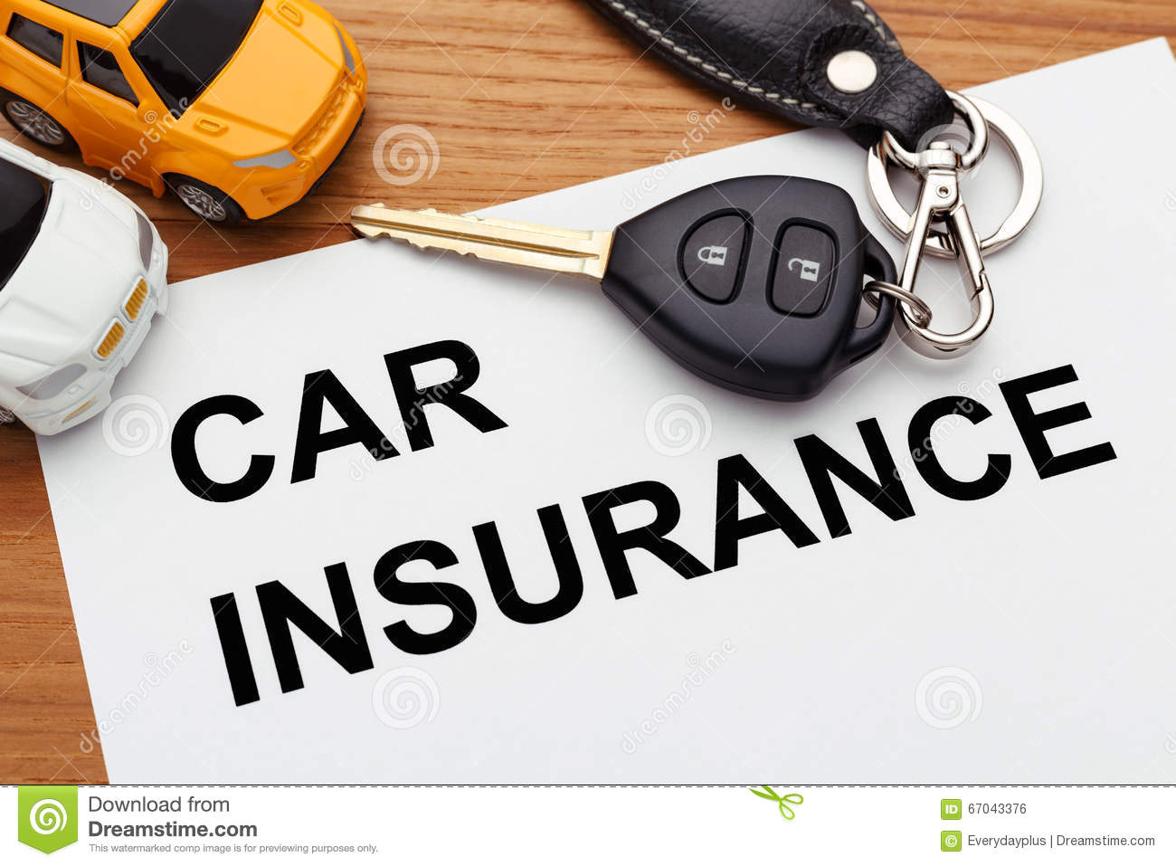 Car Insurance Concept Stock Photo Image Of Automobile 67043376