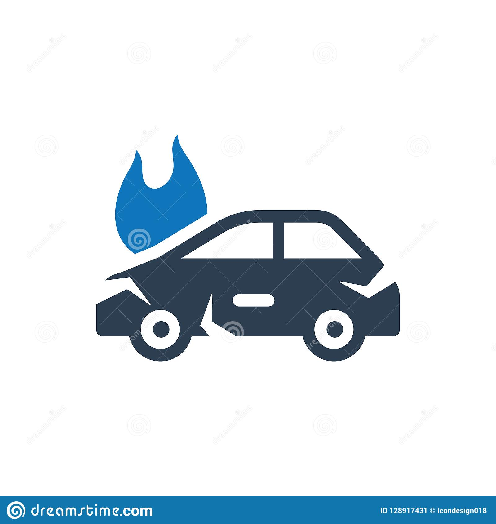 Car Insurance Icon Stock Vector Illustration Of Accident 128917431
