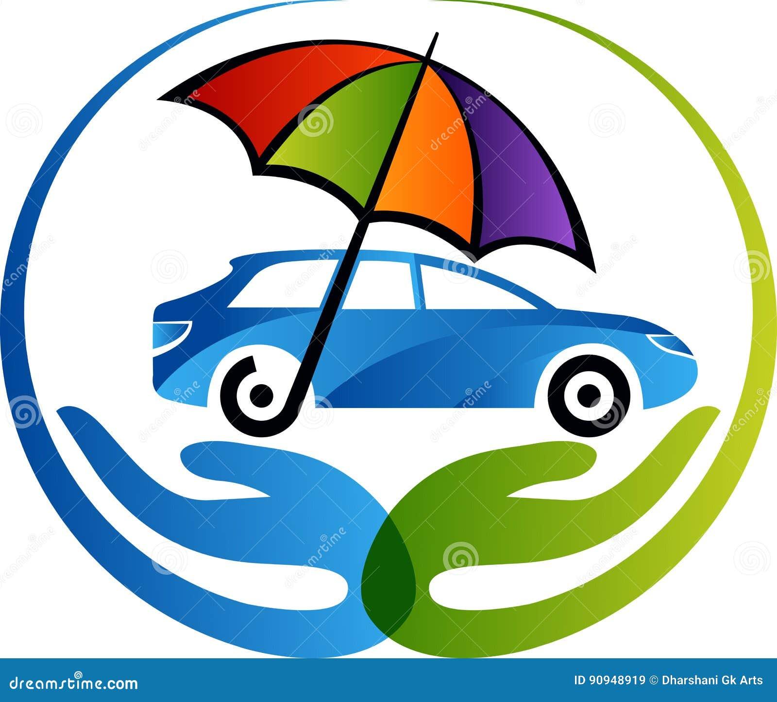 Car insurance logo stock vector. Illustration of hand ...
