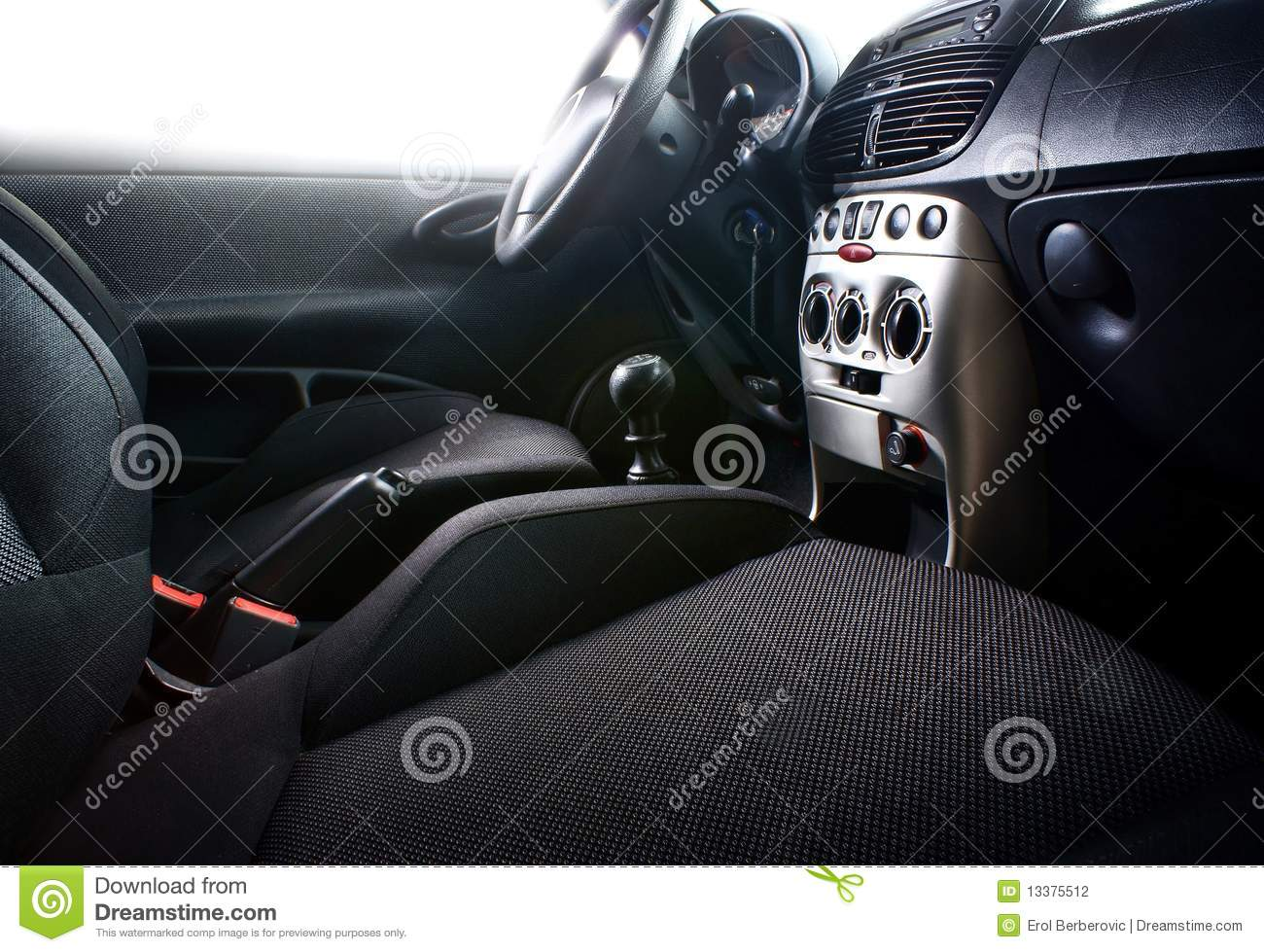 car interior stock photography image 13375512. Black Bedroom Furniture Sets. Home Design Ideas