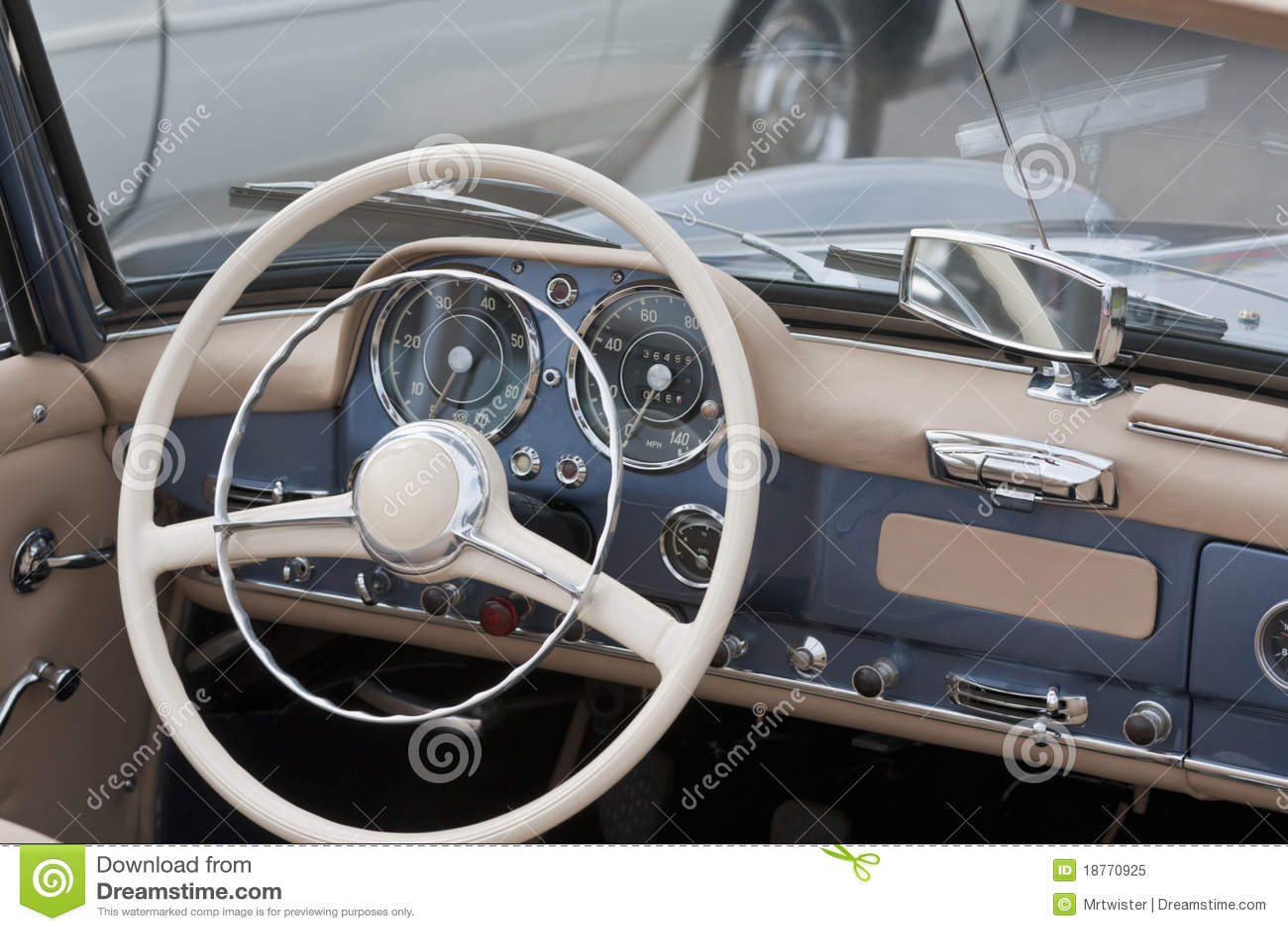car interior stock image image of past luxury speedometer 18770925. Black Bedroom Furniture Sets. Home Design Ideas