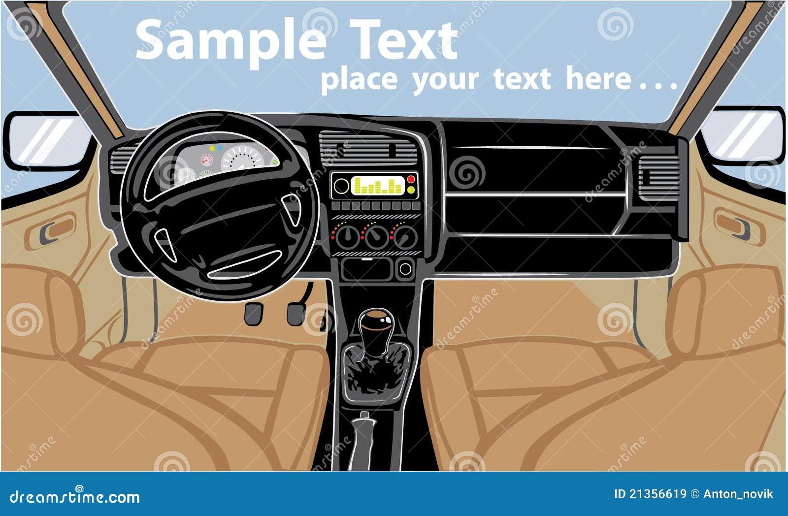 car interior royalty free stock images image 21356619. Black Bedroom Furniture Sets. Home Design Ideas